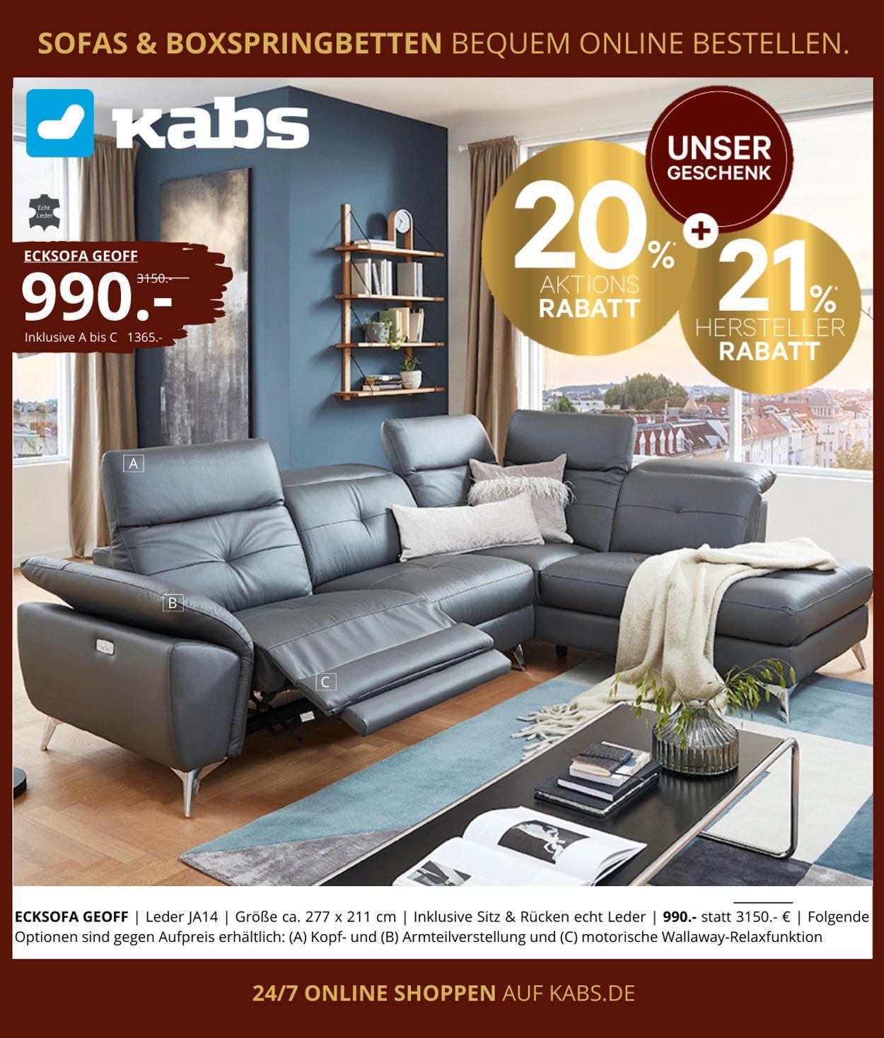 Kabs Prospekt - Aktuell vom 27.12-10.01.2021