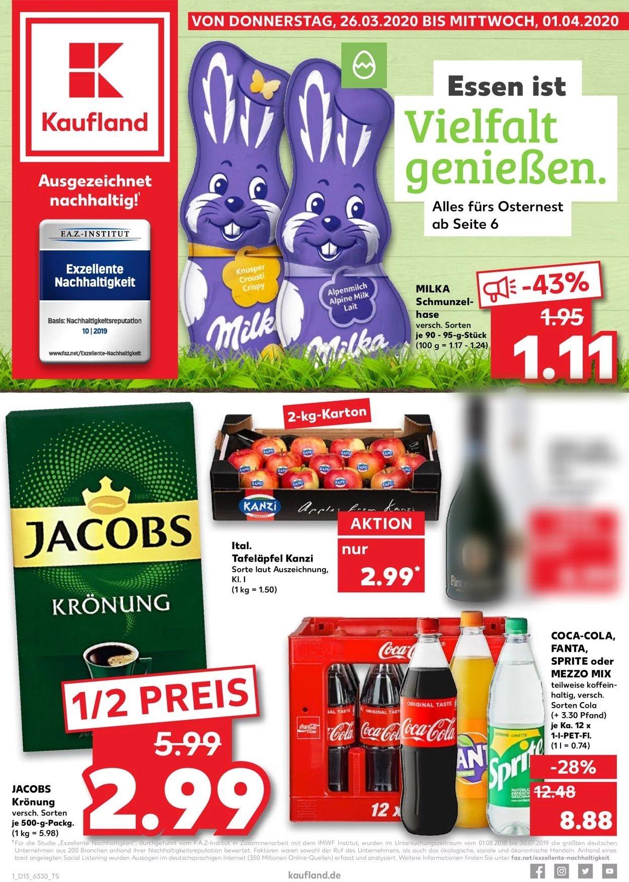 Kaufland Prospekt - Aktuell vom 26.03-01.04.2020