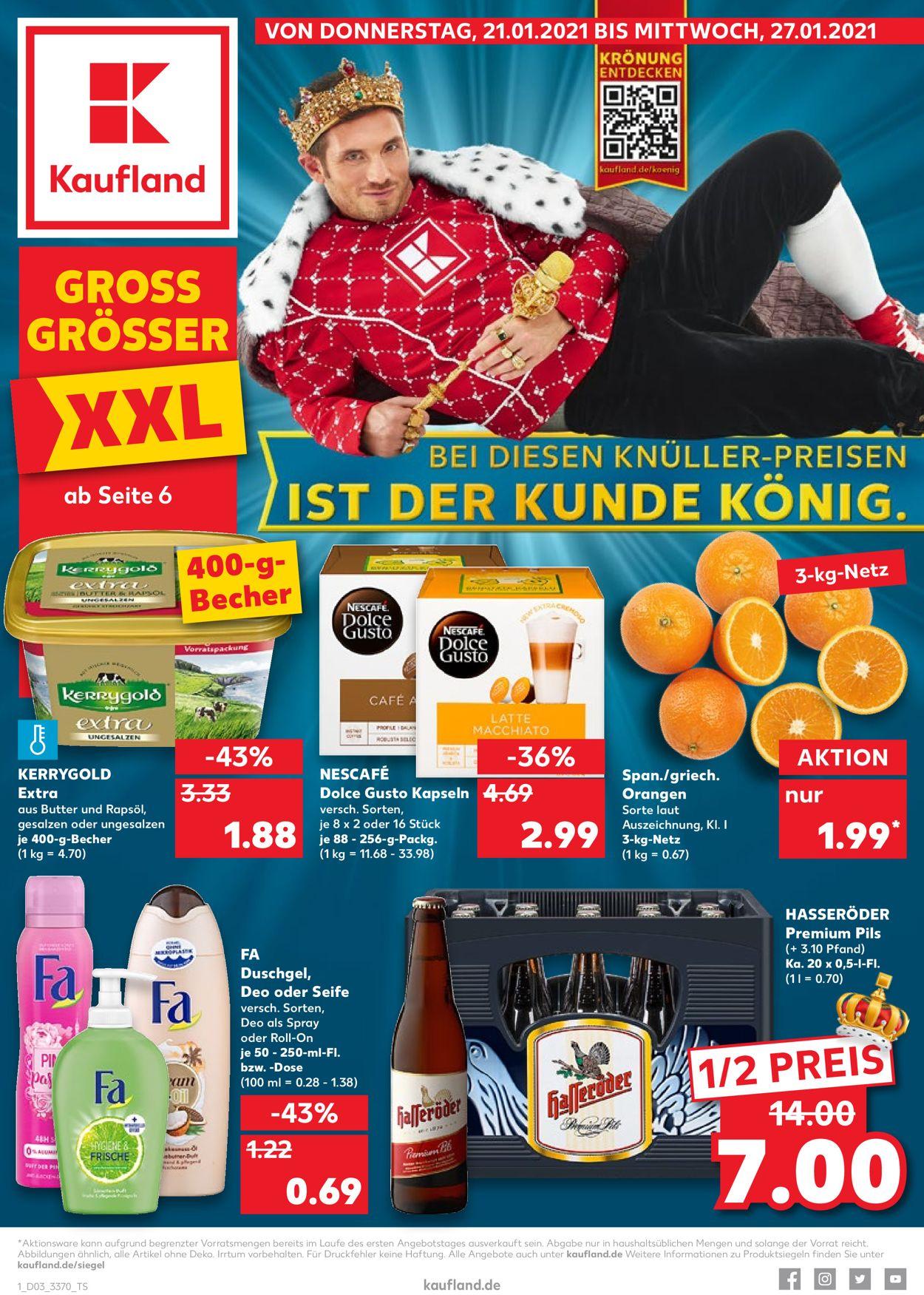 Kaufland Prospekt - Aktuell vom 21.01-27.01.2021