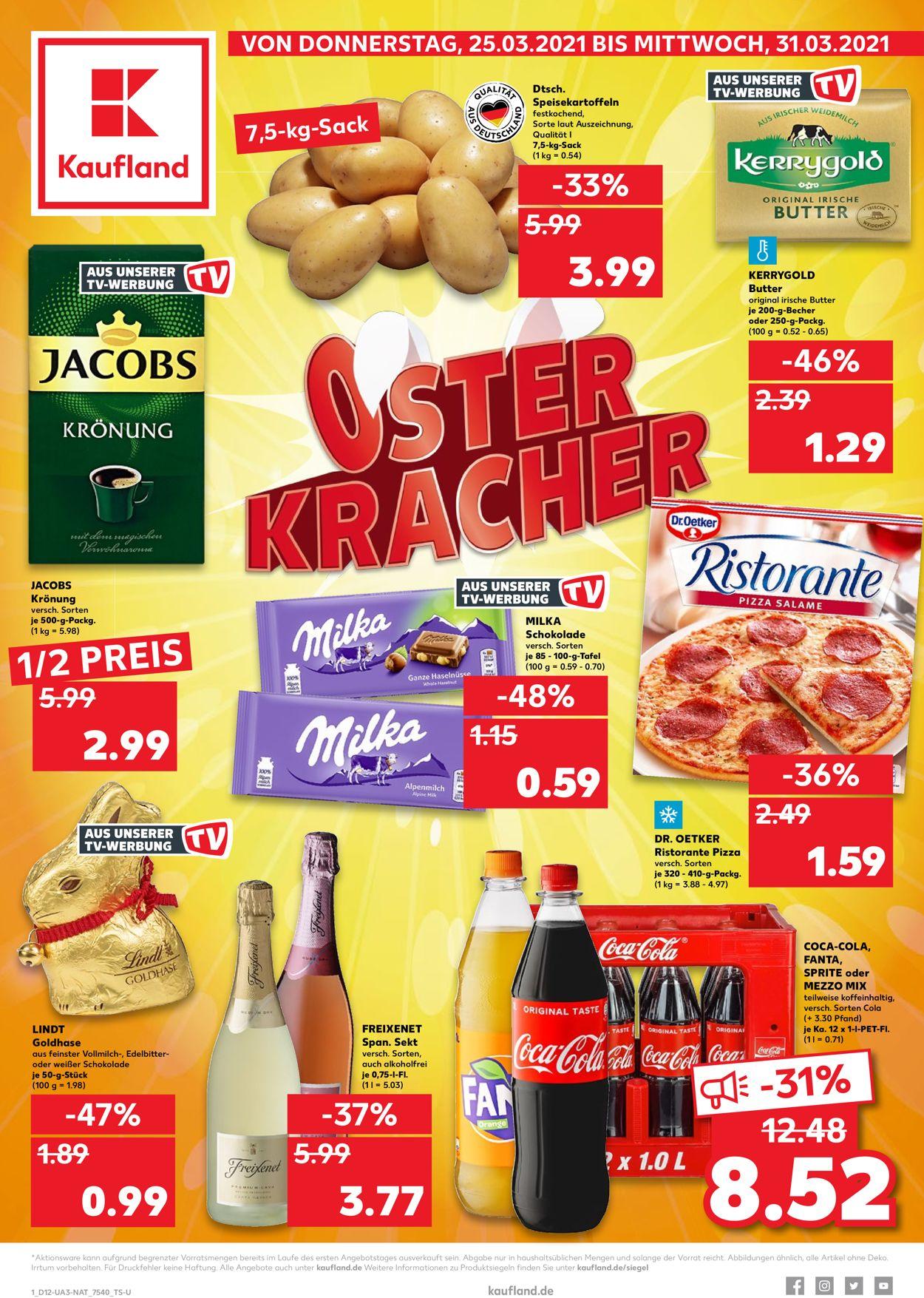 Kaufland Ostern 2021 Prospekt - Aktuell vom 25.03-31.03.2021