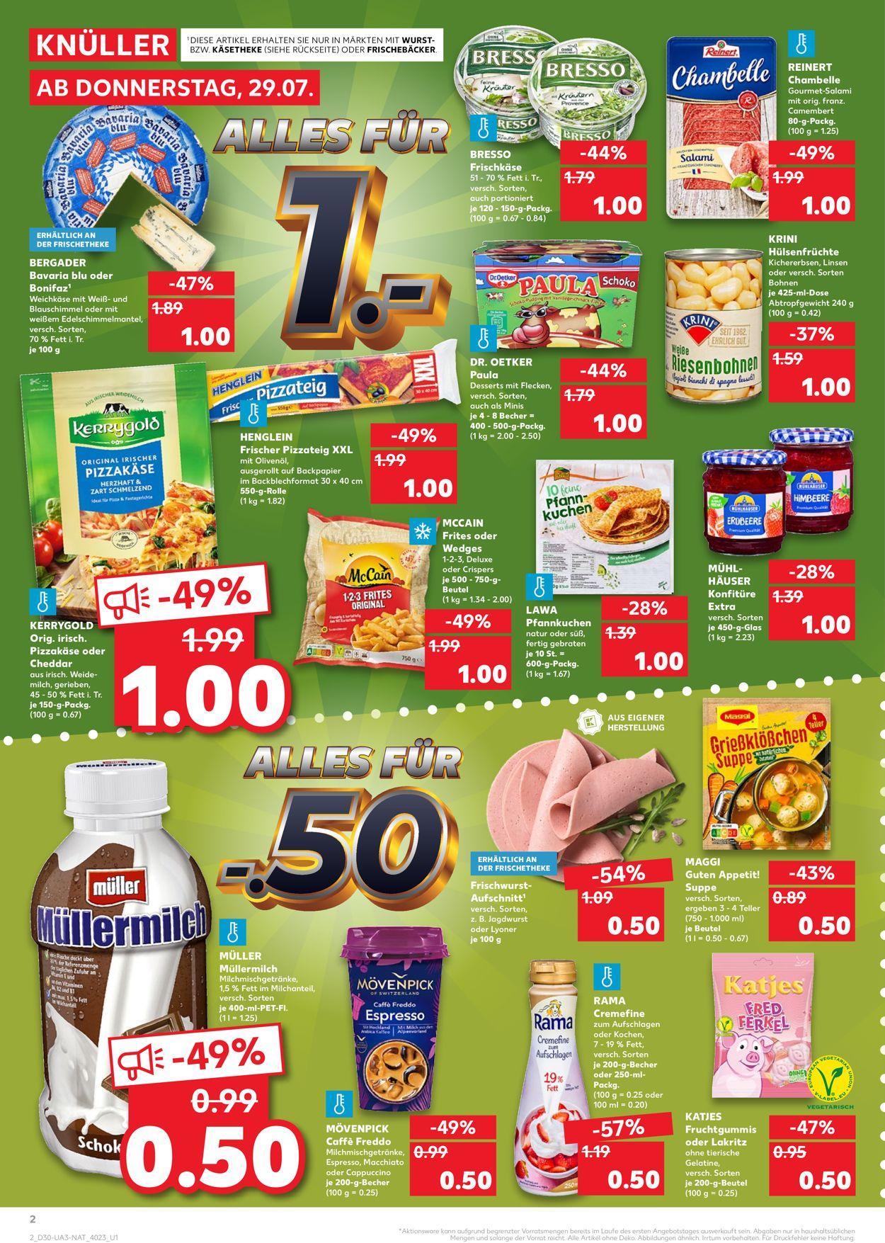 Kaufland Prospekt - Aktuell vom 29.07-04.08.2021 (Seite 2)