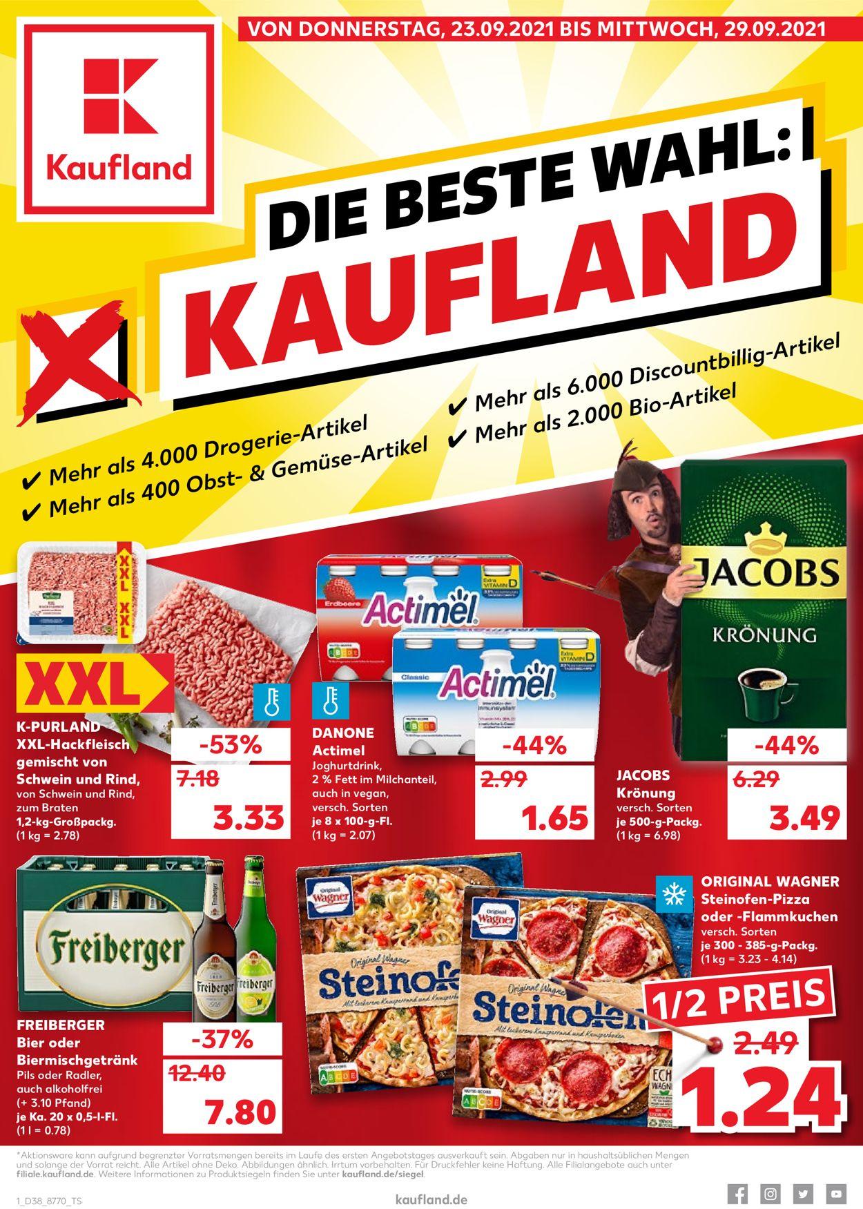 Kaufland Prospekt - Aktuell vom 23.09-29.09.2021