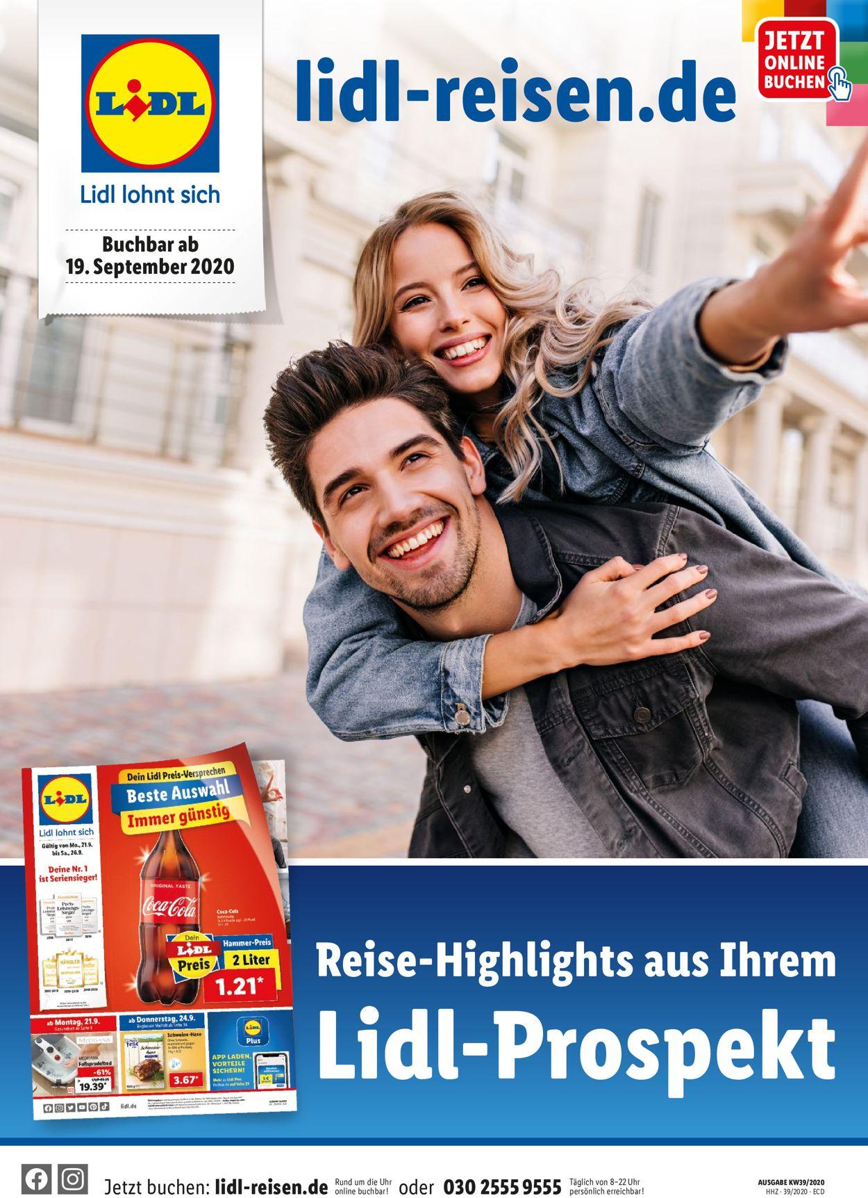Lidl-Reisen Prospekt - Aktuell vom 19.09-15.10.2020