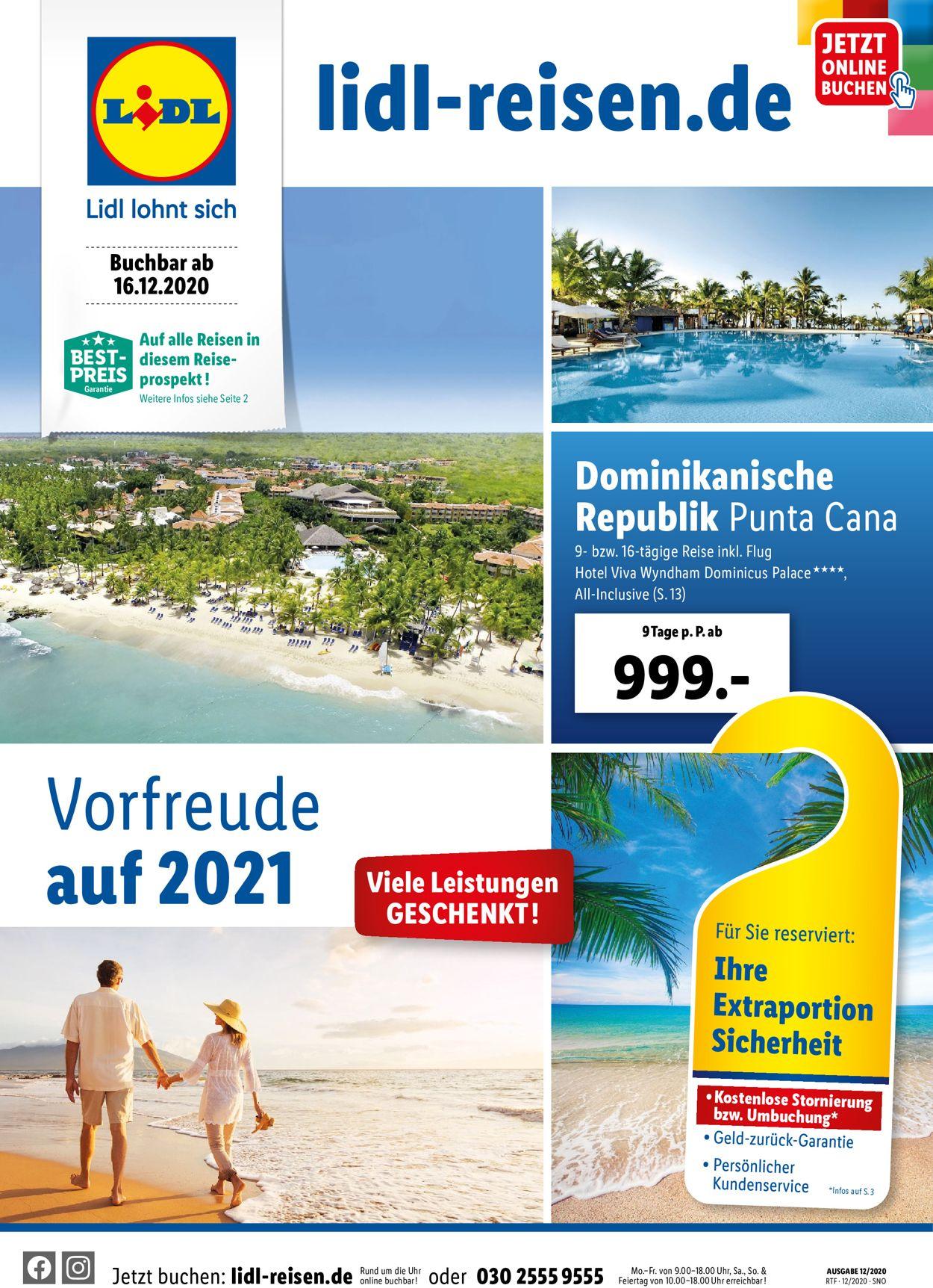 Lidl-Reisen Prospekt - Aktuell vom 16.12-15.01.2021