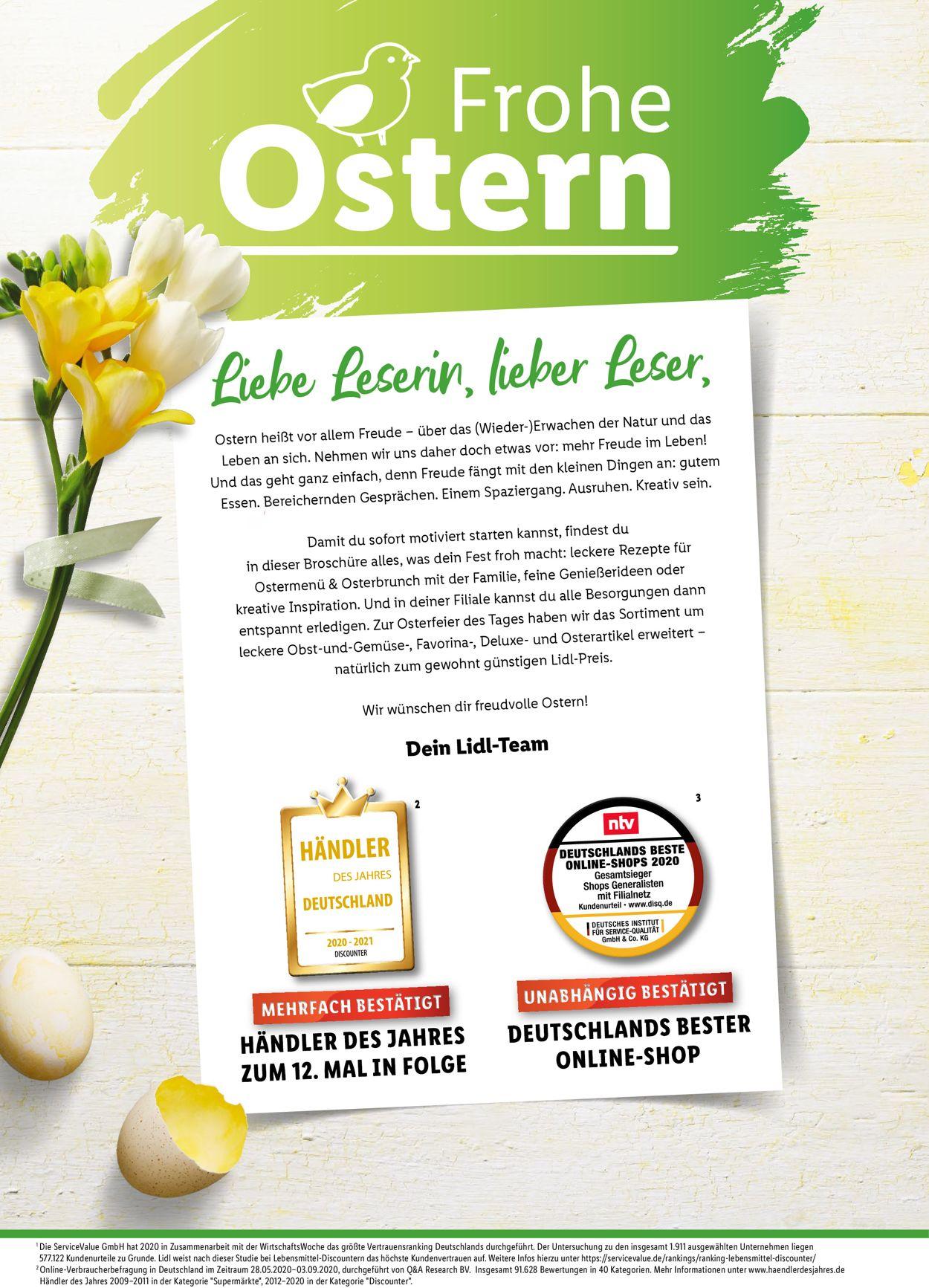 Lidl-Reisen Ostermagazin 2021 Prospekt - Aktuell vom 15.03-05.04.2021 (Seite 2)