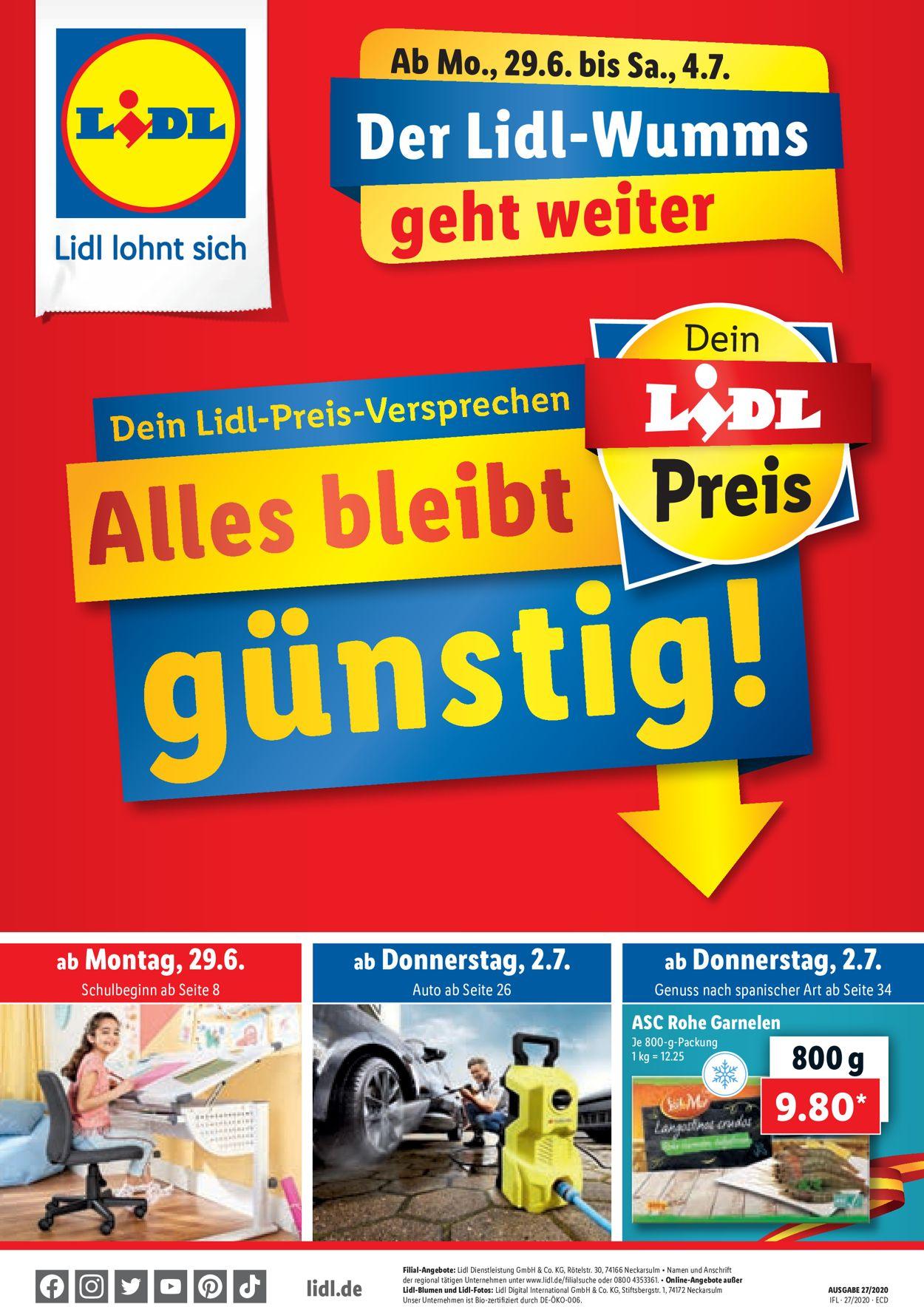 Lidl Prospekt - Aktuell vom 29.06-04.07.2020