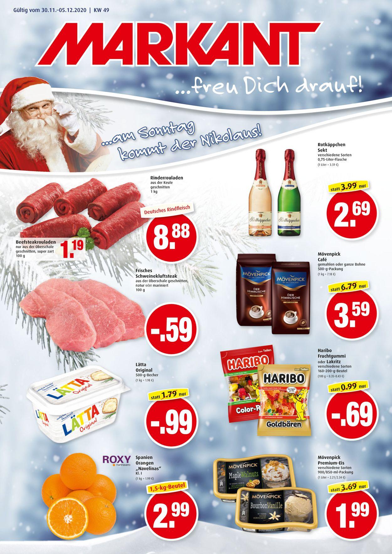 Markant Weihnachtsprospekt 2020 Prospekt - Aktuell vom 30.11-05.12.2020