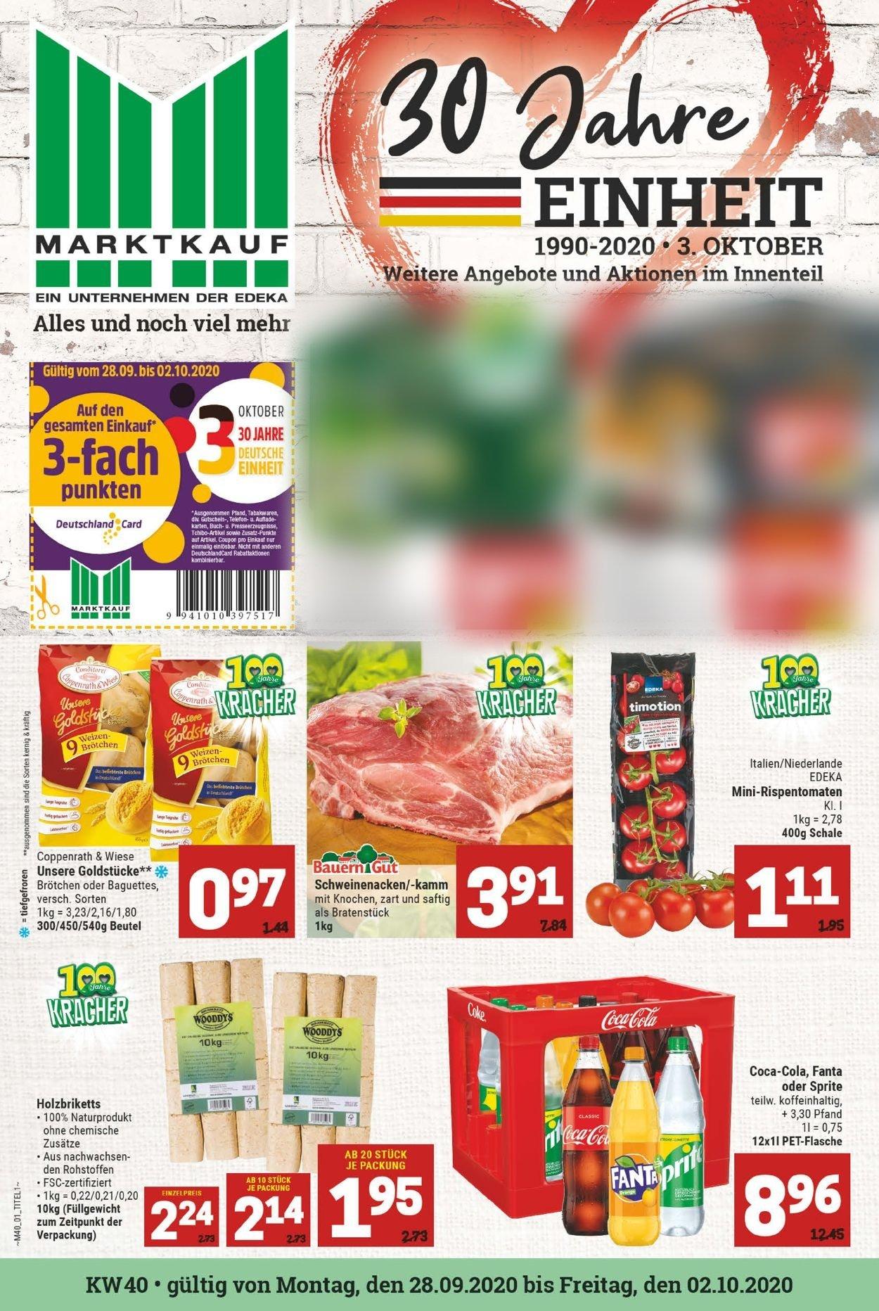 Marktkauf Prospekt - Aktuell vom 28.09-02.10.2020