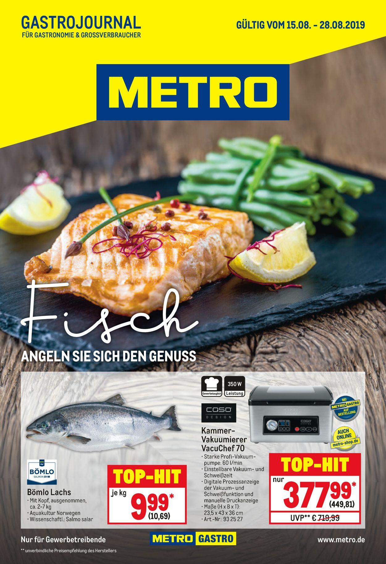 Metro Prospekt - Aktuell vom 15.08-28.08.2019