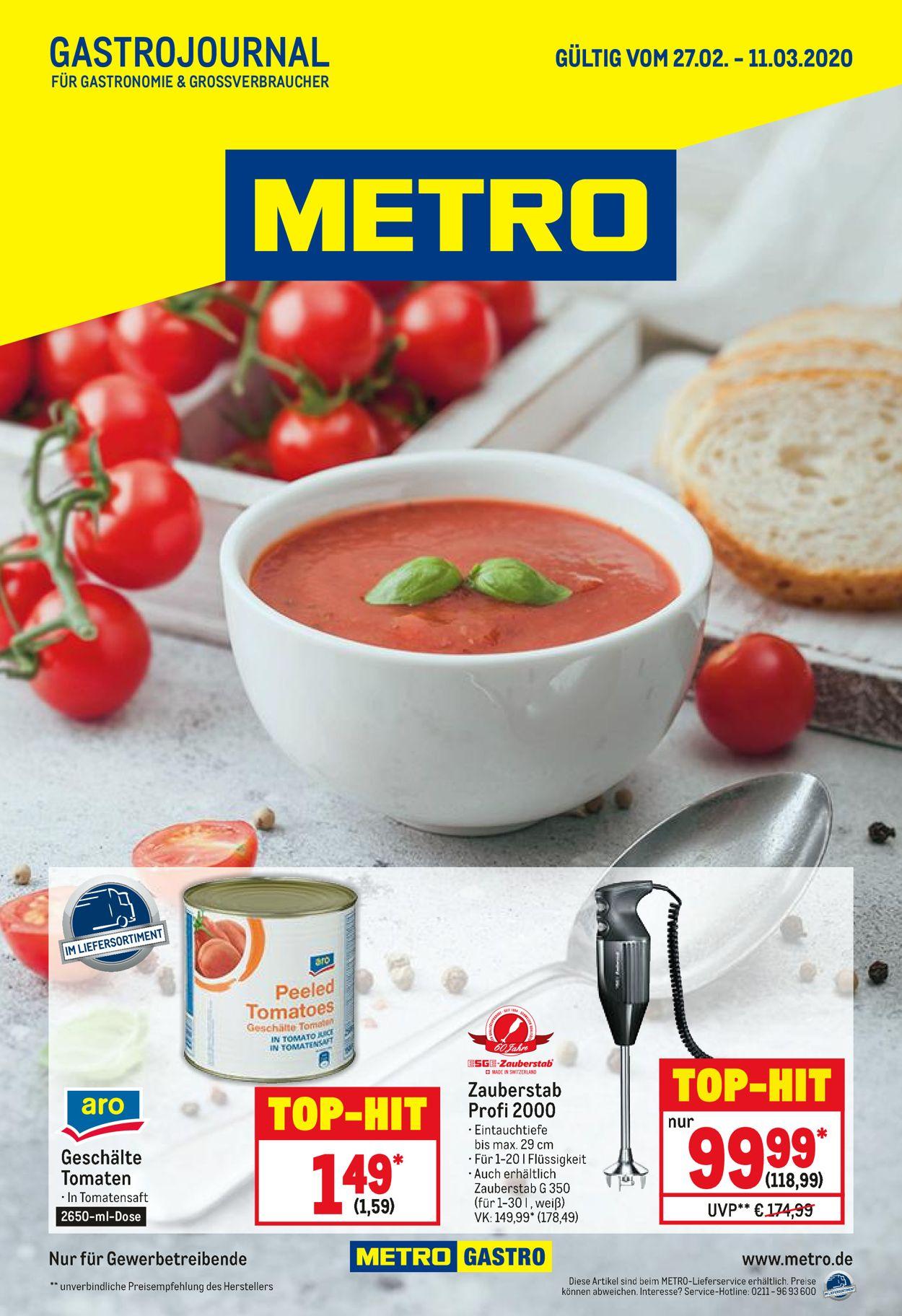 Metro Prospekt - Aktuell vom 27.02-11.03.2020
