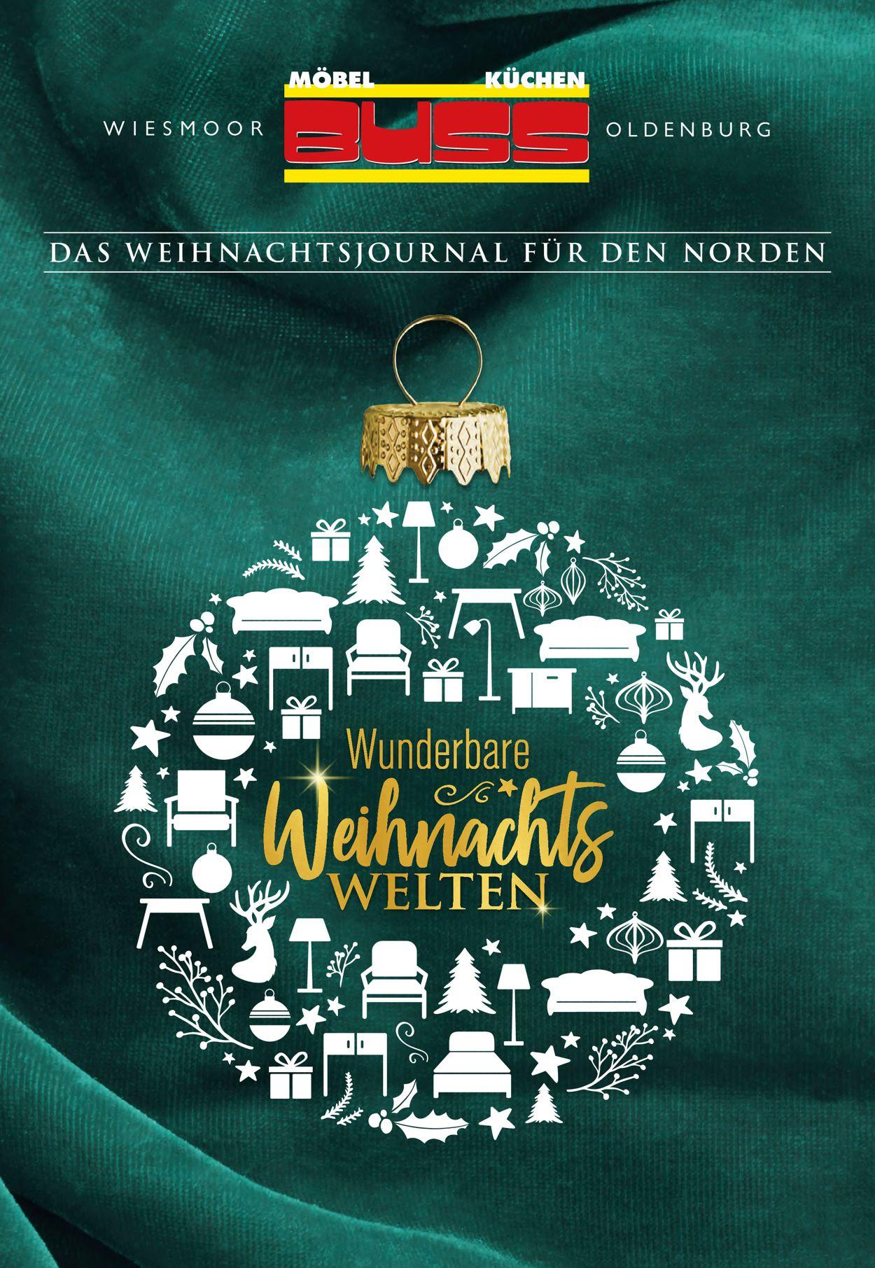 Möbel Buss Weihnachtsprospekt 2020 Prospekt - Aktuell vom 23.11-24.12.2020