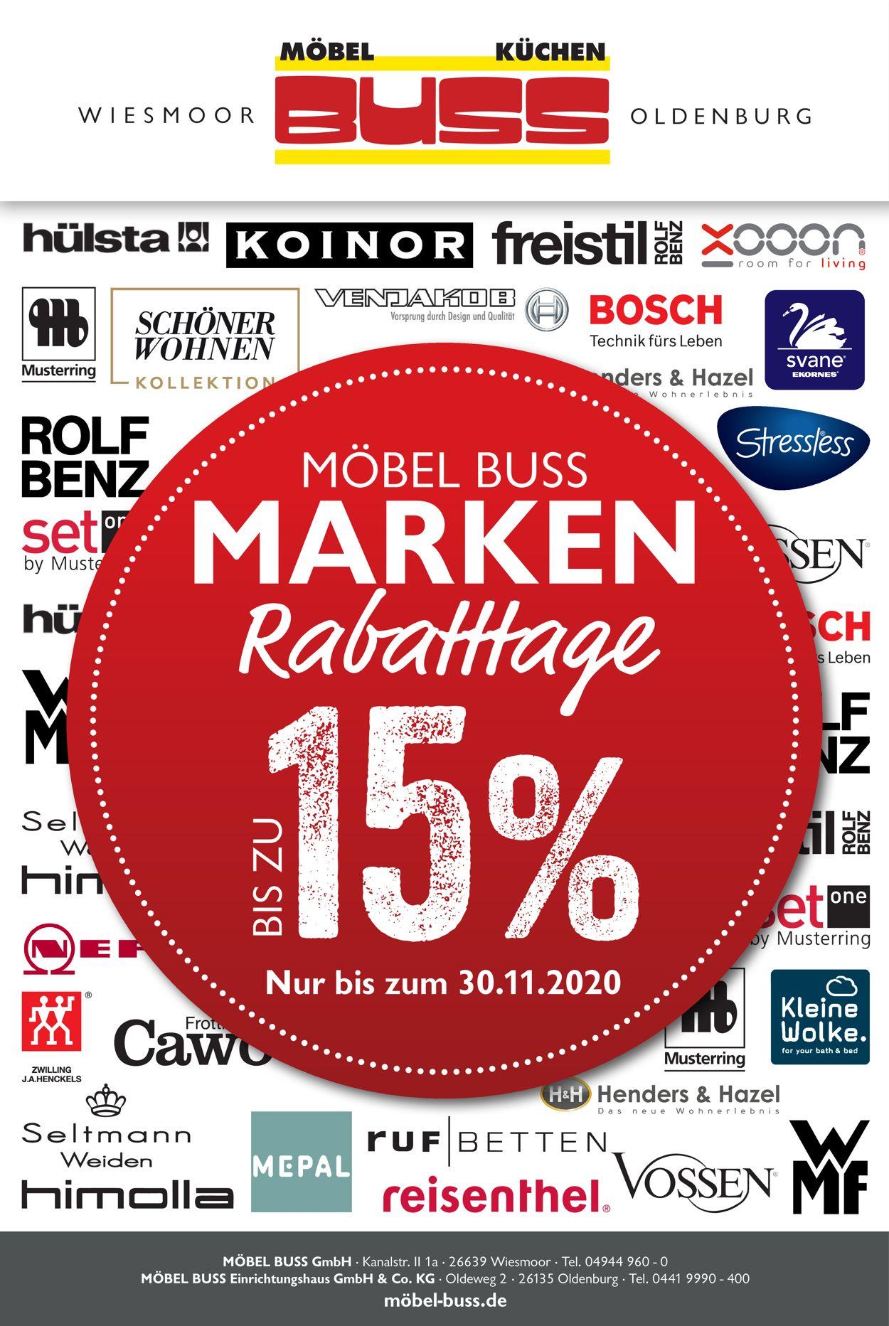 Möbel Buss Black Friday 2020 Prospekt - Aktuell vom 24.11-30.11.2020