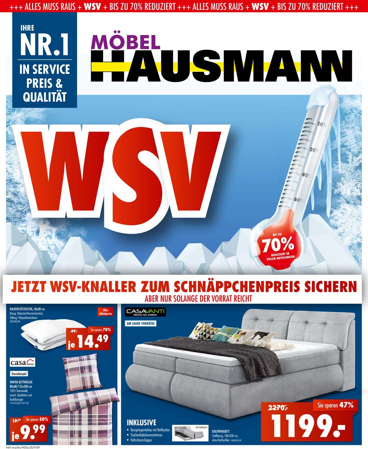 Möbel Hausmann Prospekt - Aktuell vom 22.03-28.03.2021