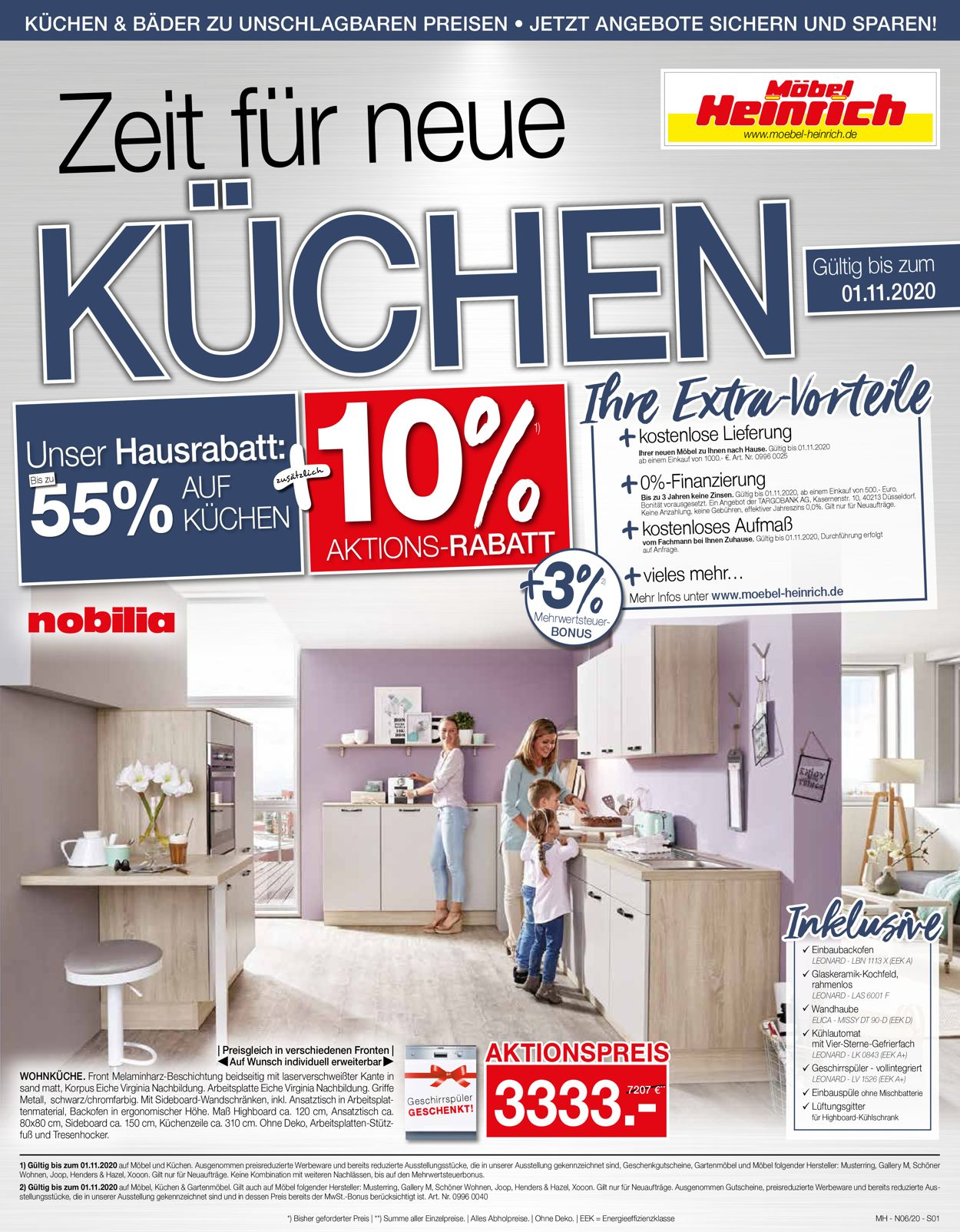 Möbel Heinrich Prospekt - Aktuell vom 28.09-01.11.2020