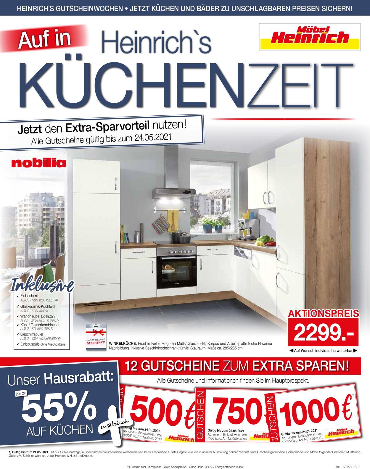 Möbel Heinrich Prospekt - Aktuell vom 11.04-24.05.2021