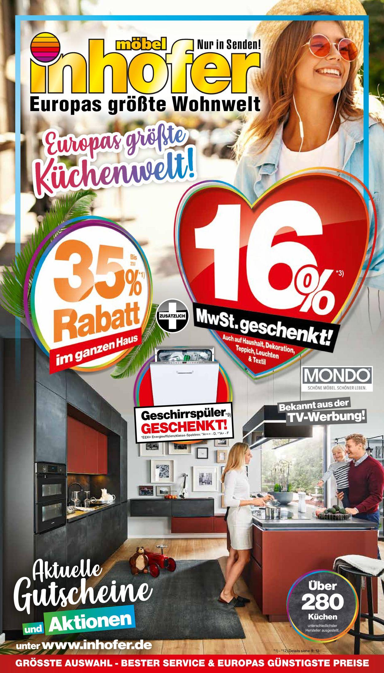 Möbel Inhofer Prospekt - Aktuell vom 05.08-29.08.2020