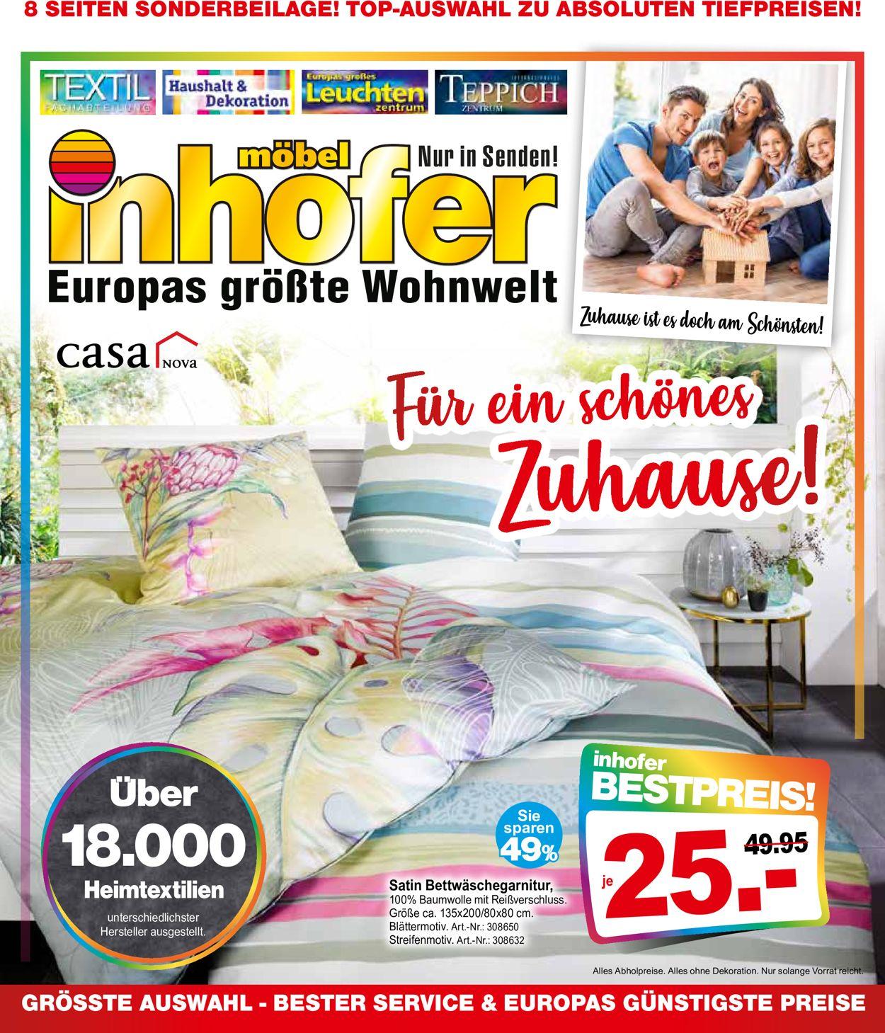 Möbel Inhofer Prospekt - Aktuell vom 17.09-02.10.2020