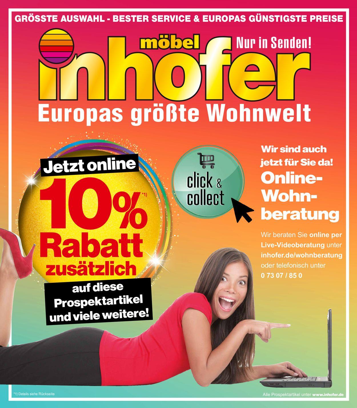 Möbel Inhofer Prospekt - Aktuell vom 29.01-17.02.2021