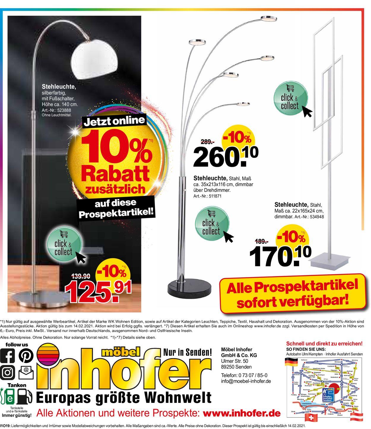 Möbel Inhofer Prospekt - Aktuell vom 03.02-14.02.2021 (Seite 32)