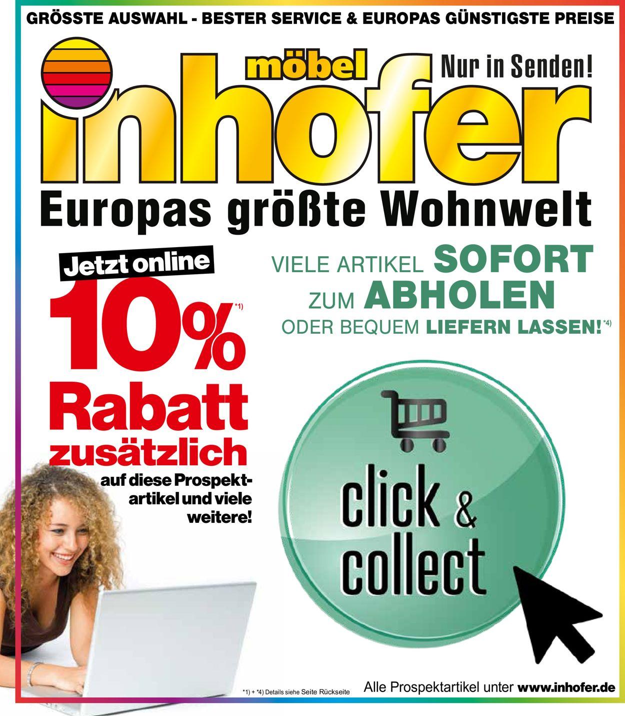 Möbel Inhofer Prospekt - Aktuell vom 19.02-07.03.2021
