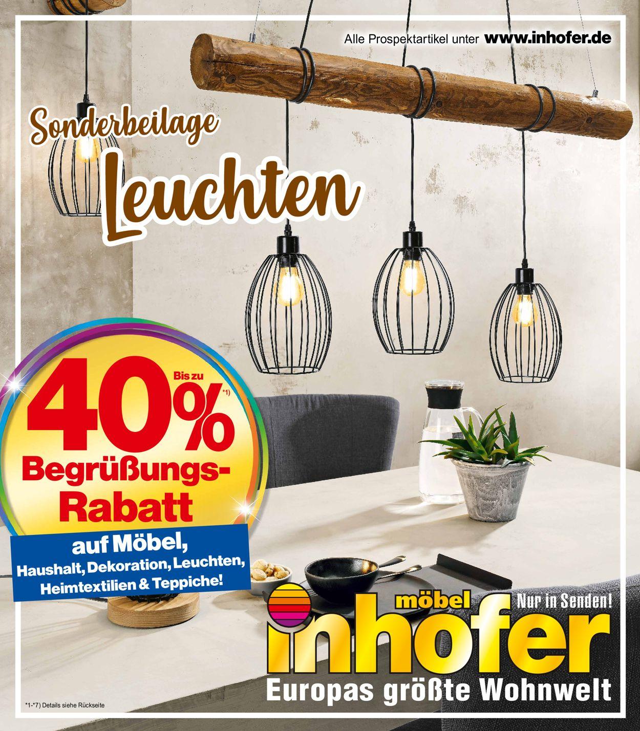 Möbel Inhofer Prospekt - Aktuell vom 17.03-31.03.2021