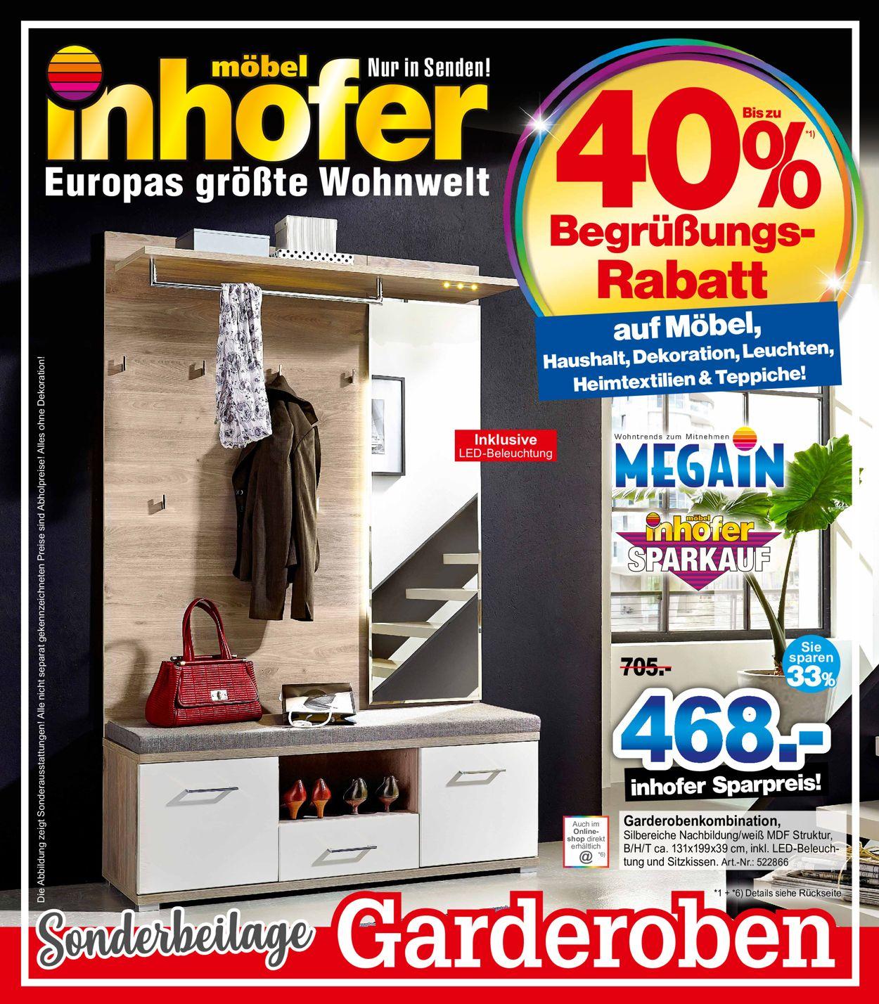 Möbel Inhofer Prospekt - Aktuell vom 18.03-31.03.2021