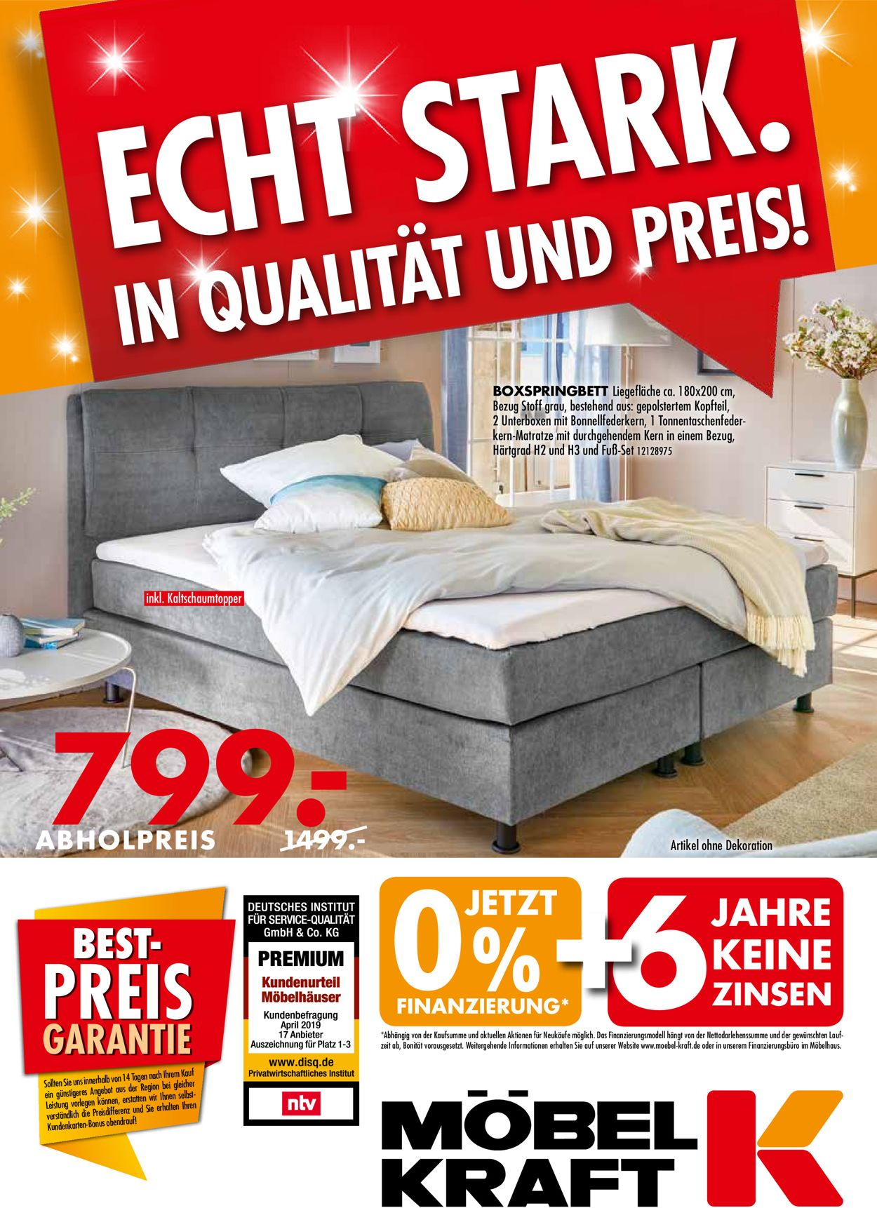 Möbel Kraft Prospekt - Aktuell vom 14.10-12.11.2019