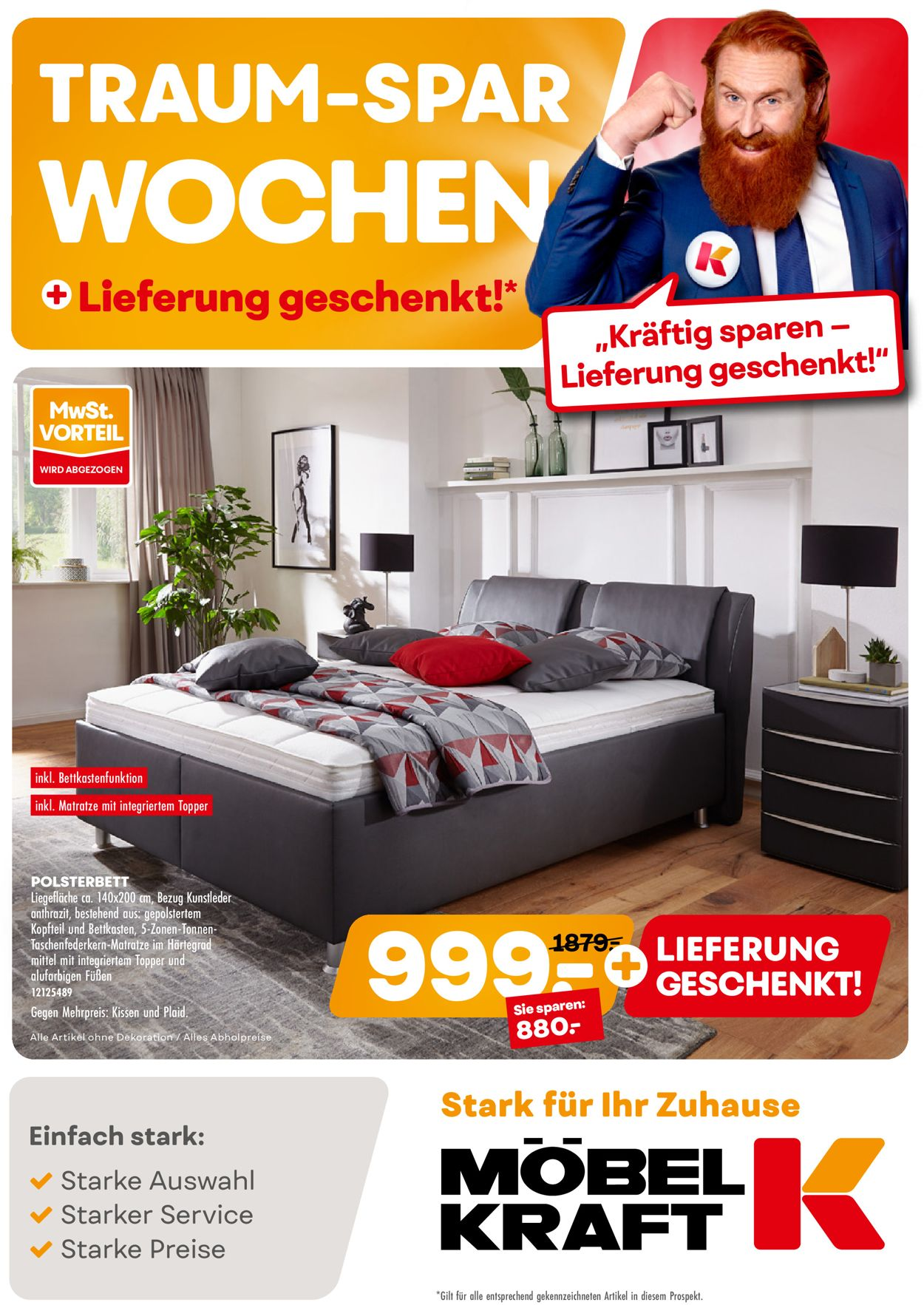 Möbel Kraft Prospekt - Aktuell vom 03.08-08.09.2020