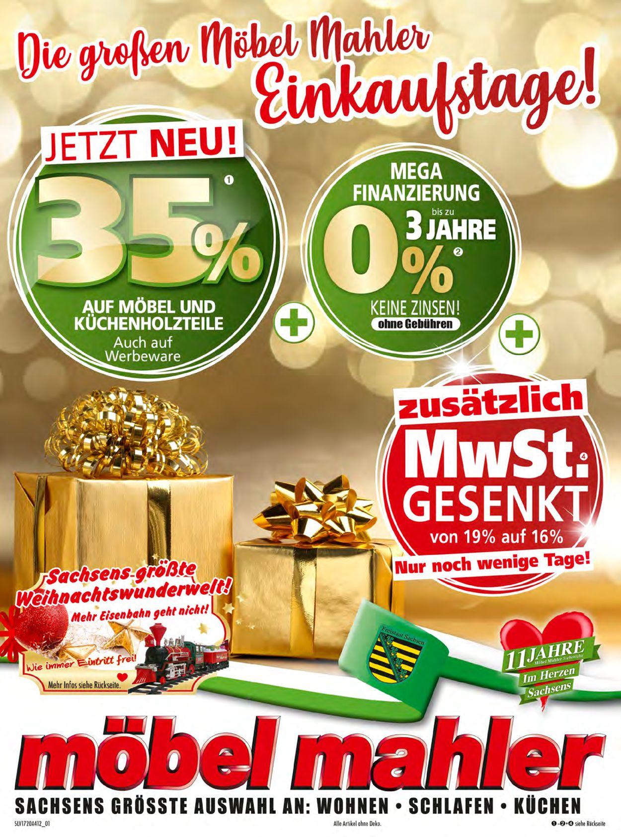Möbel Mahler Weihnachtsprospekt 2020 Prospekt - Aktuell vom 07.12-20.12.2020