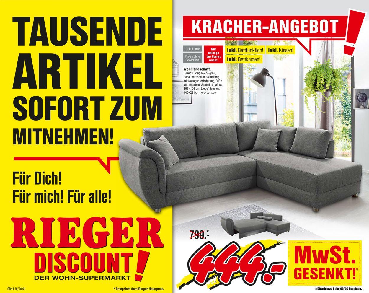 Möbel Rieger Prospekt - Aktuell vom 28.10-10.11.2020
