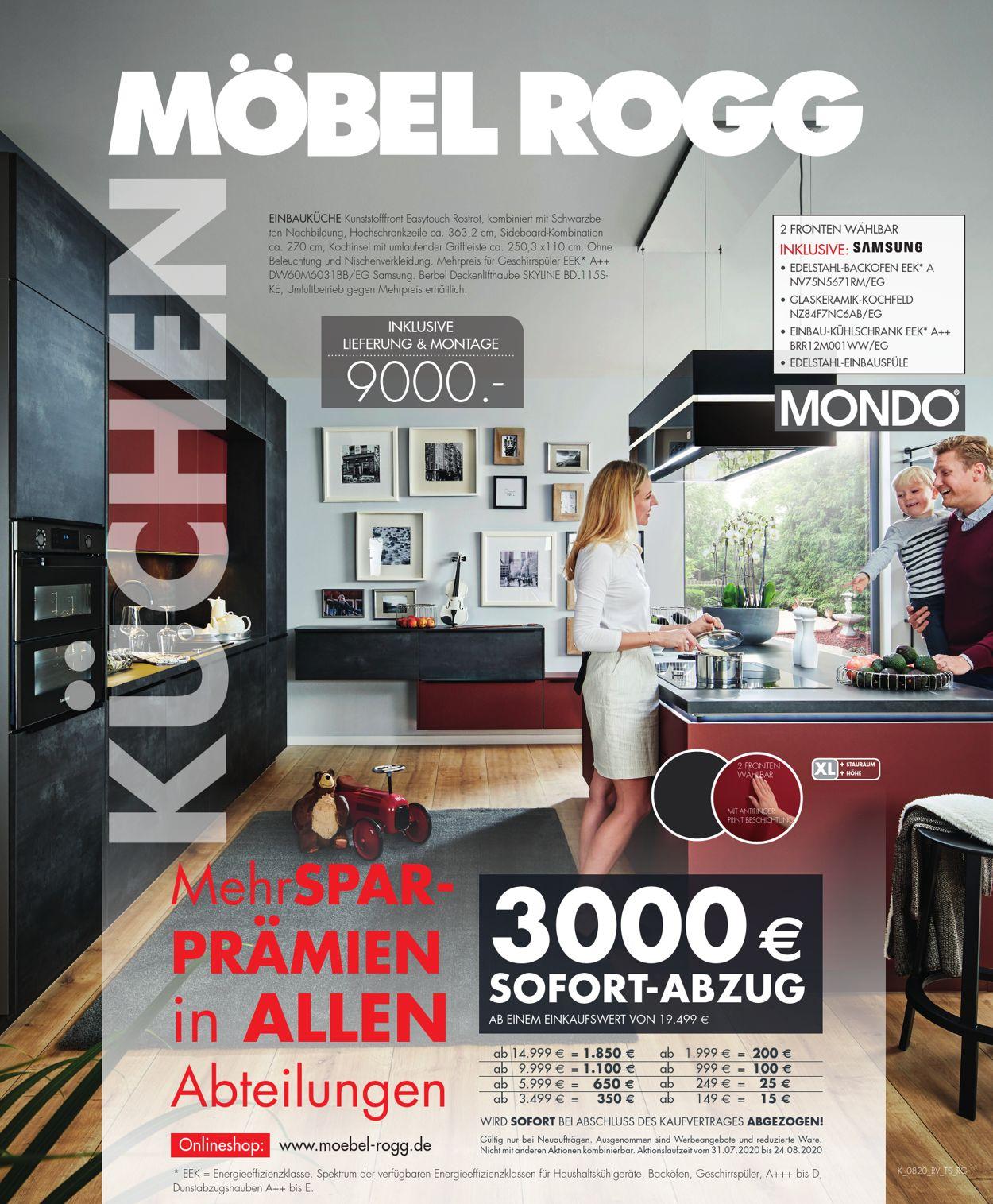 Möbel Rogg Prospekt - Aktuell vom 31.07-24.08.2020