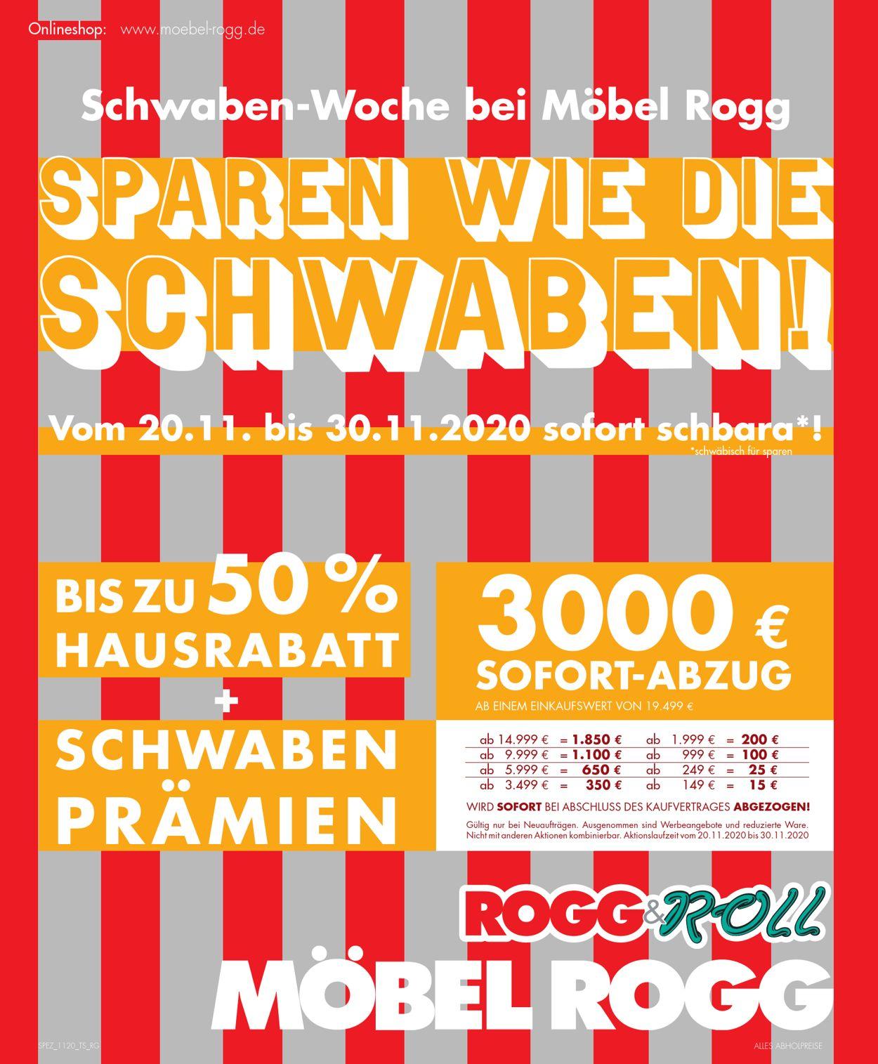 Möbel Rogg Prospekt - Aktuell vom 20.11-30.11.2020