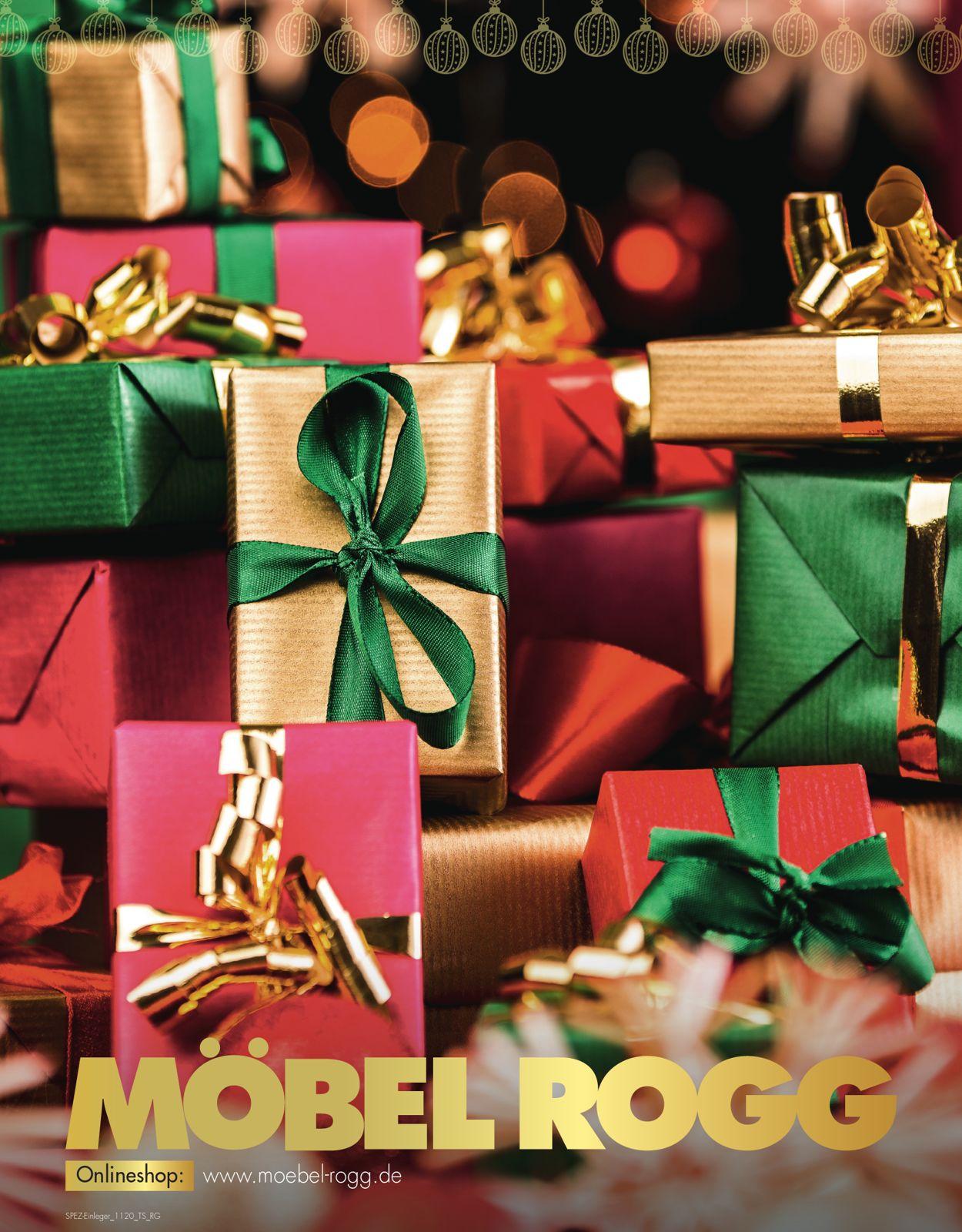 Möbel Rogg - Weihnachtsprospekt 2020 Prospekt - Aktuell vom 20.11-30.11.2020