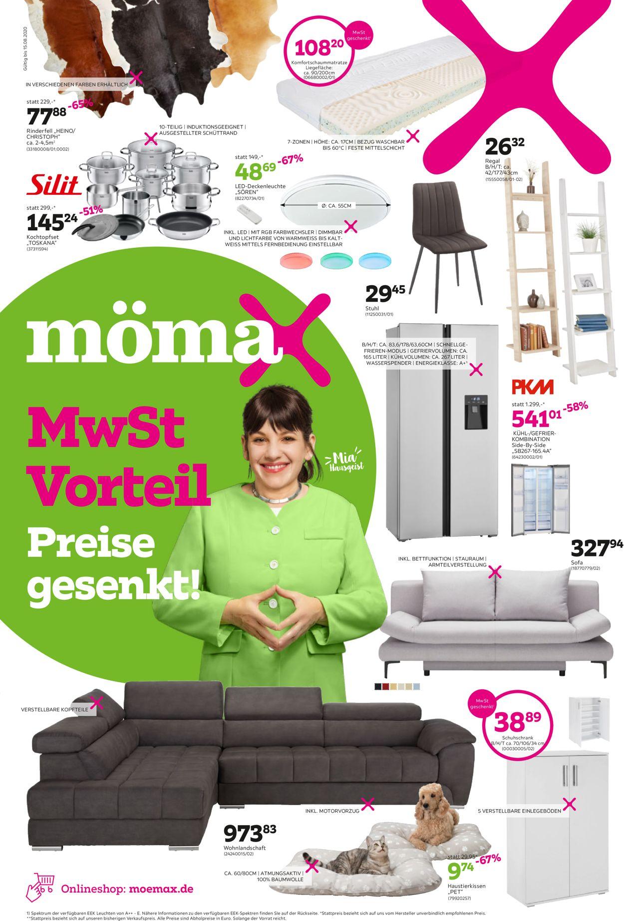 Mömax Prospekt - Aktuell vom 03.08-15.08.2020