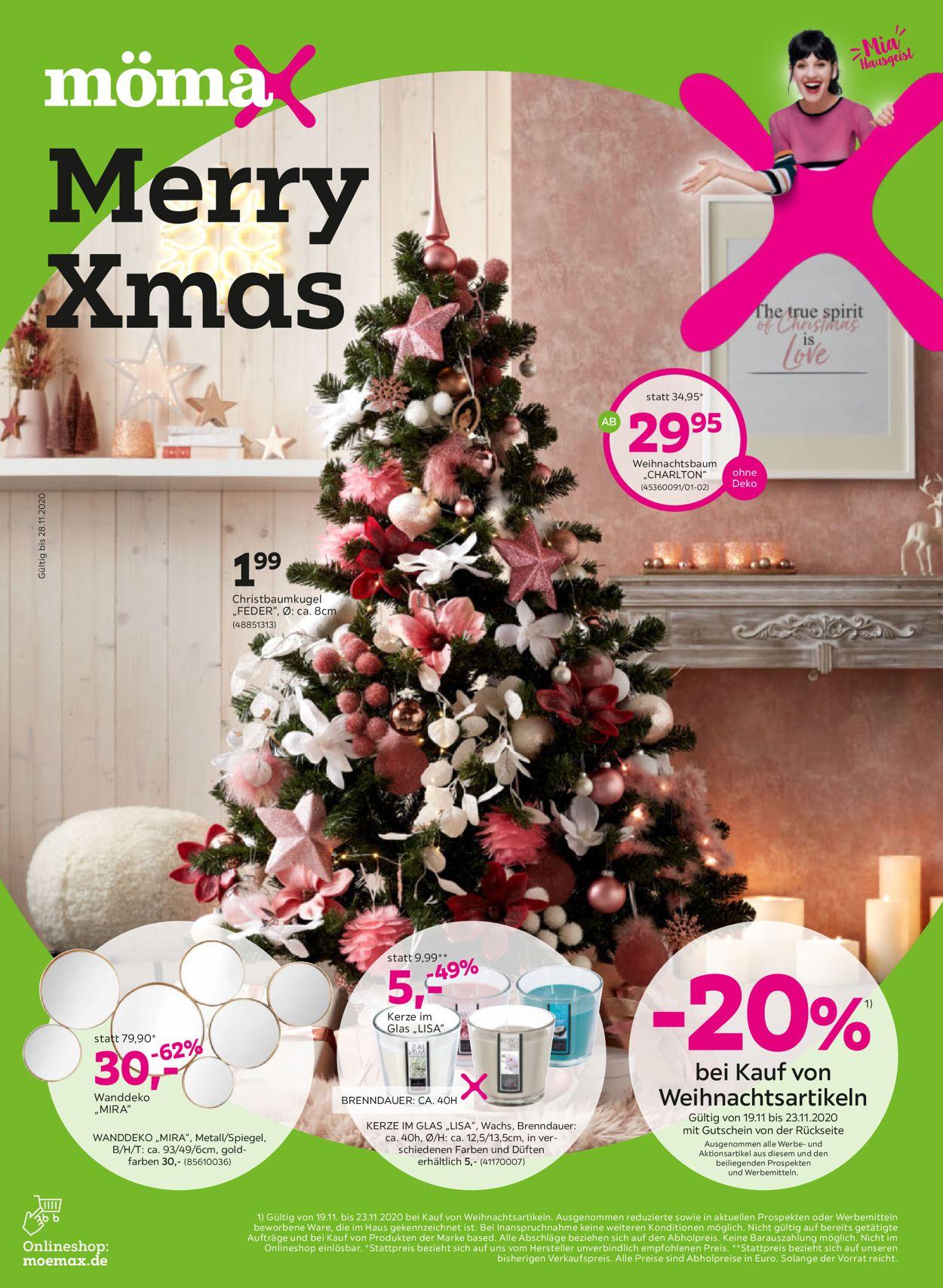 Mömax - Weihnachtsprospekt 2020 Prospekt - Aktuell vom 16.11-28.11.2020