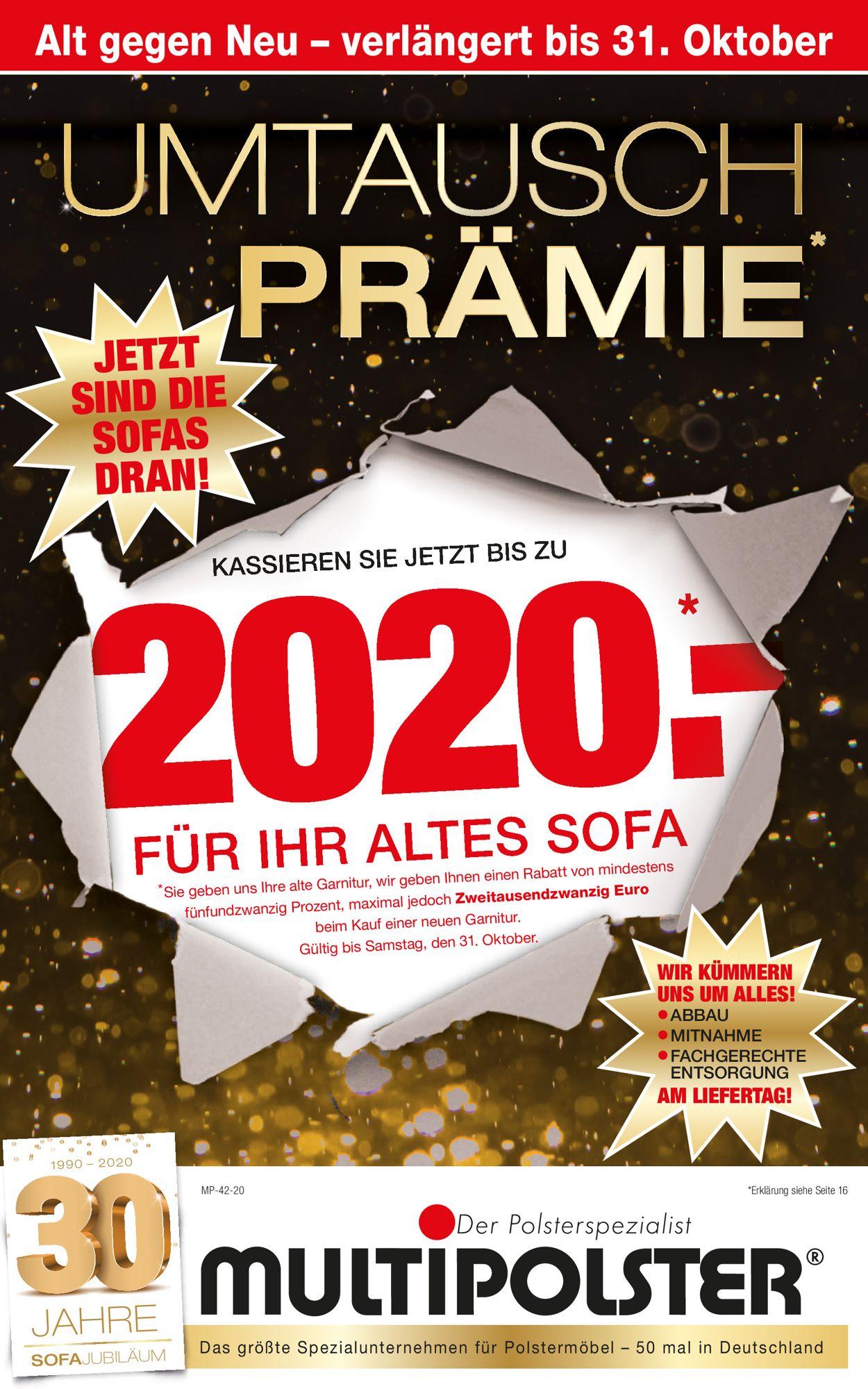 Multipolster Prospekt - Aktuell vom 12.10-31.10.2020