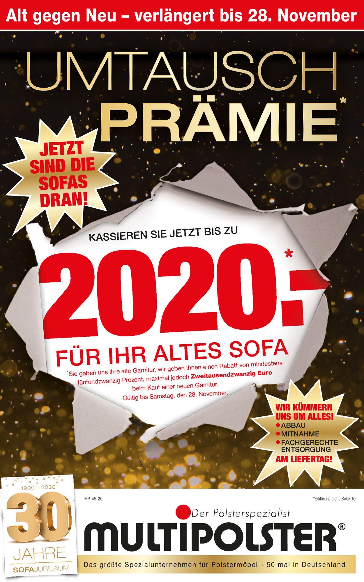Multipolster Black Friday 2020 Prospekt - Aktuell vom 23.11-28.11.2020