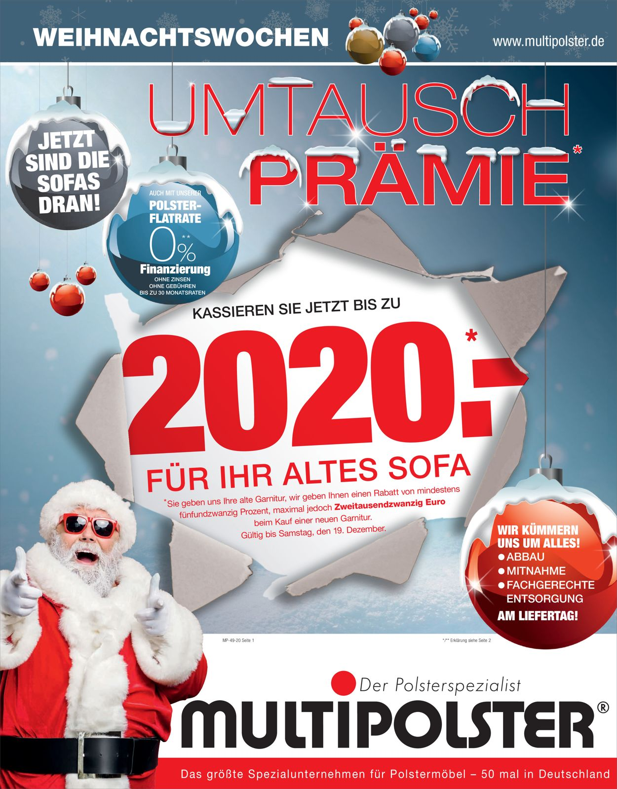 Multipolster - Weihnachten 2020 Prospekt - Aktuell vom 29.11-19.12.2020