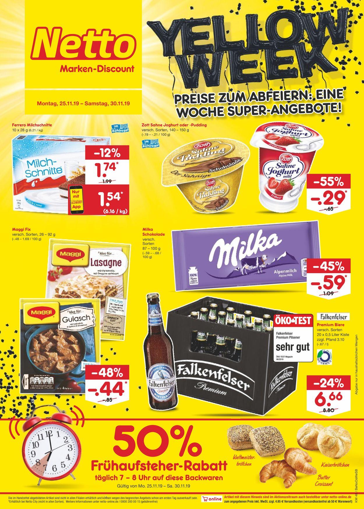 Netto Marken-Discount - Yellow Week 2019 Prospekt - Aktuell vom 25.11-30.11.2019