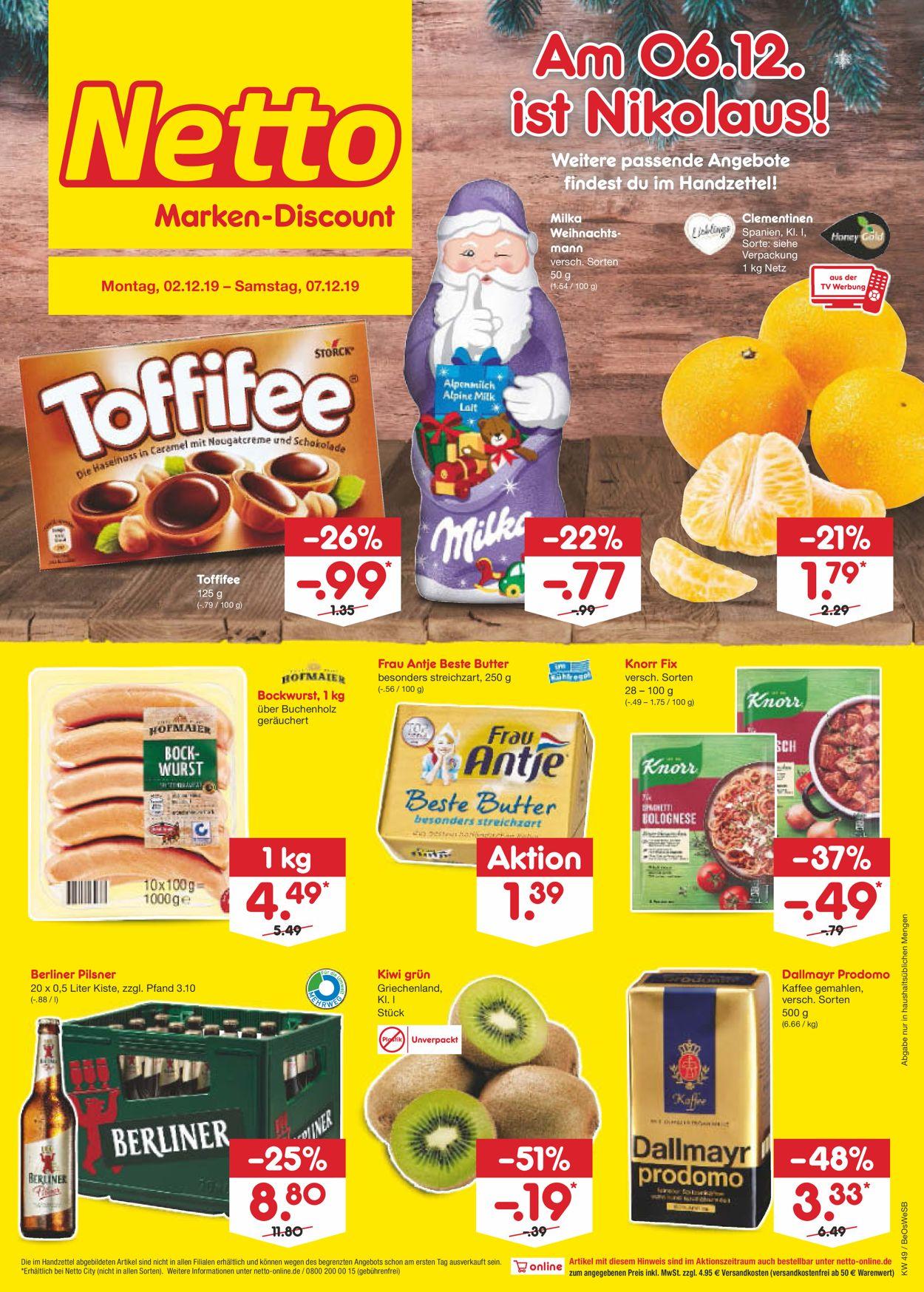 Netto Marken-Discount Prospekt - Aktuell vom 02.12-07.12.2019