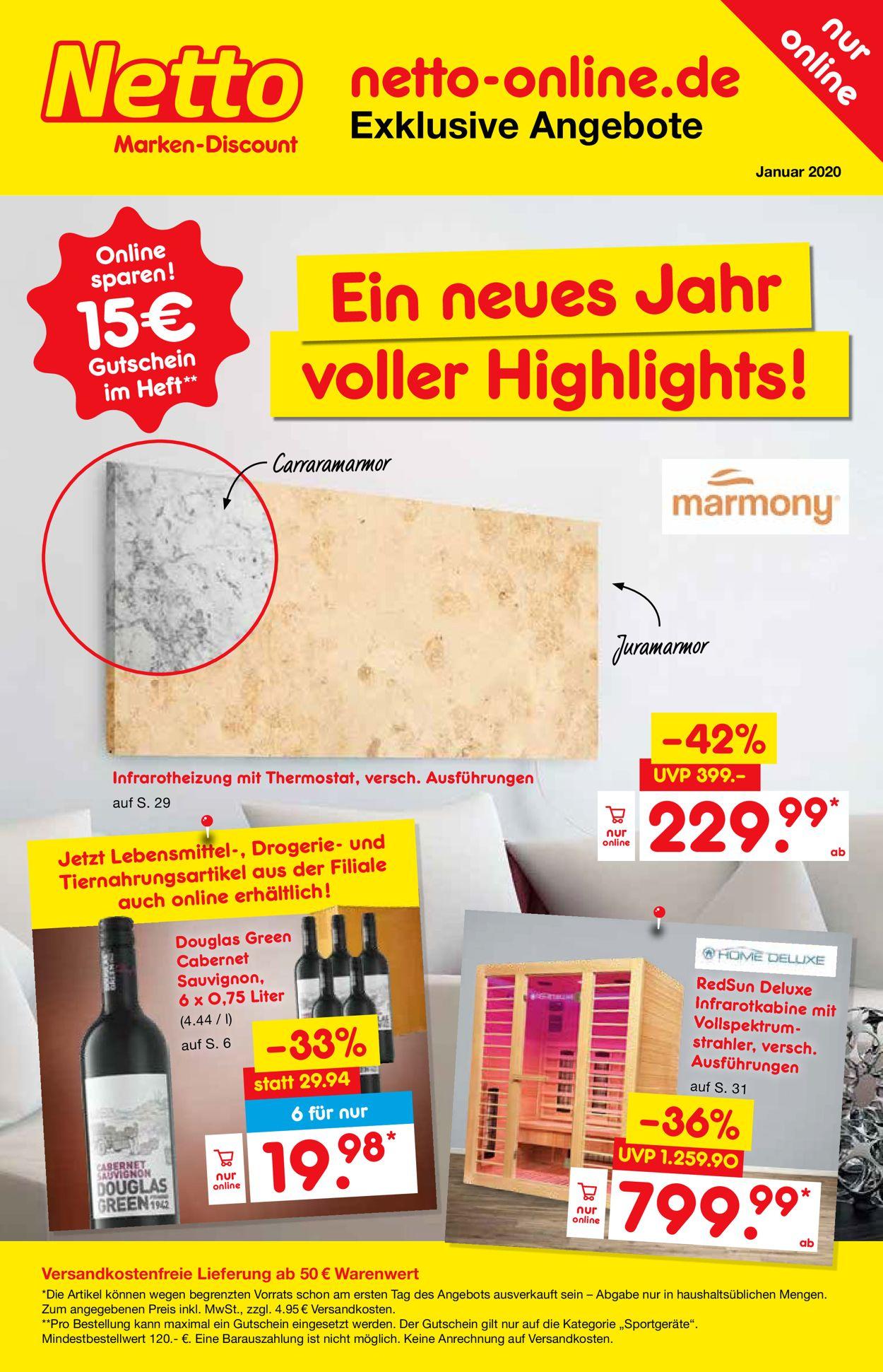 Netto Marken-Discount Prospekt - Aktuell vom 01.01-31.01.2020