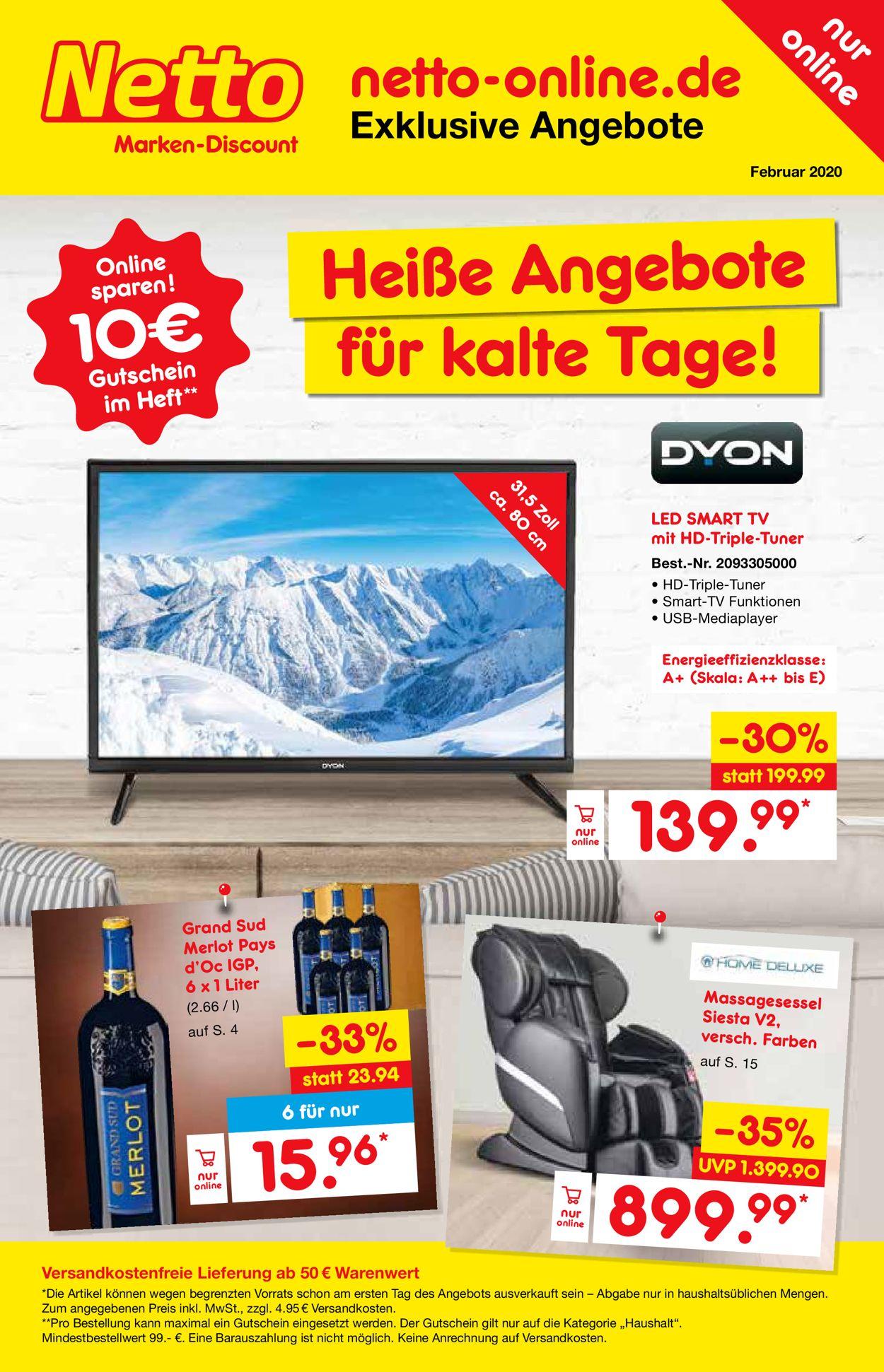 Netto Marken-Discount Prospekt - Aktuell vom 30.01-28.02.2020