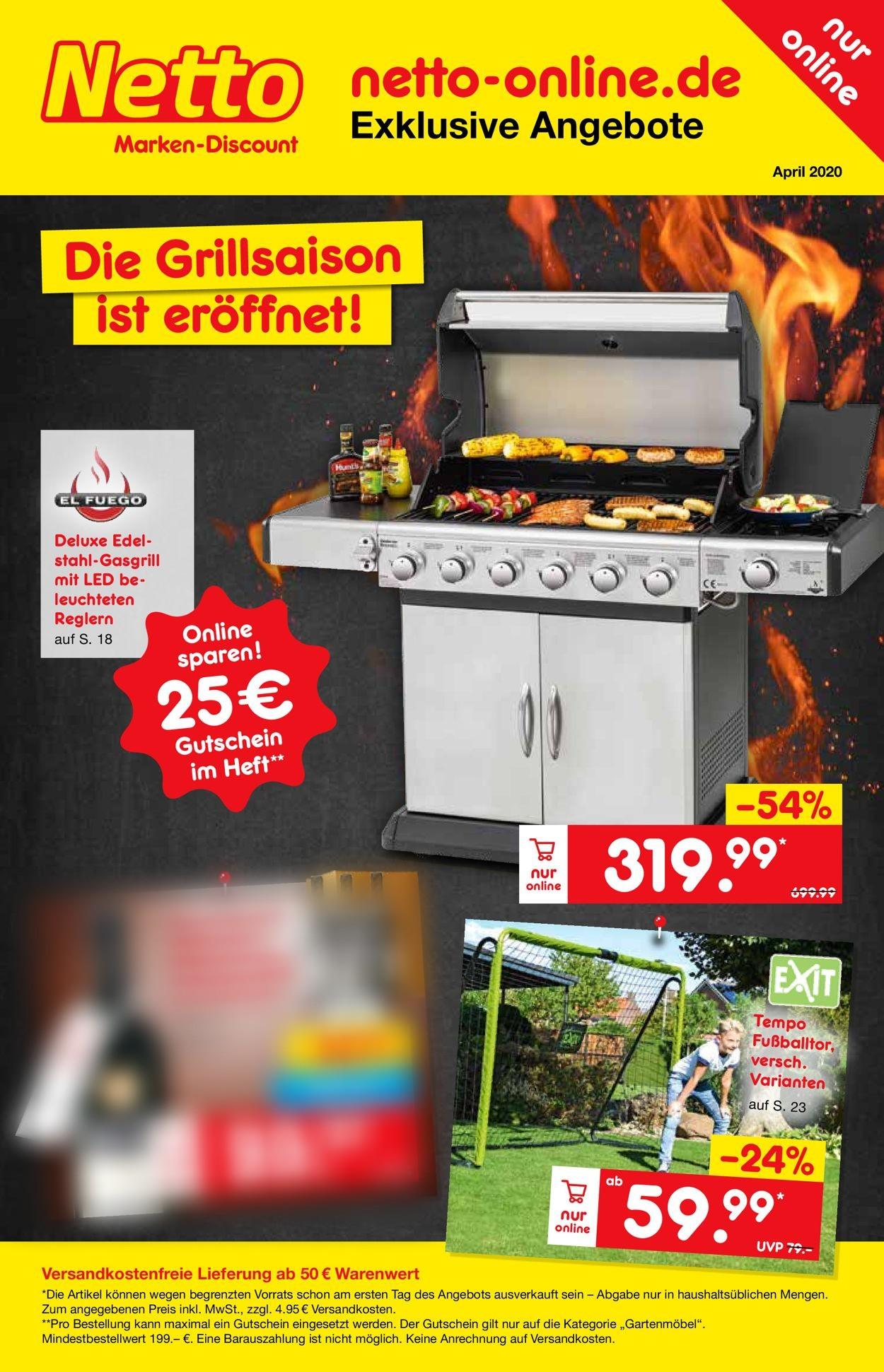 Netto Marken-Discount Prospekt - Aktuell vom 26.03-30.04.2020