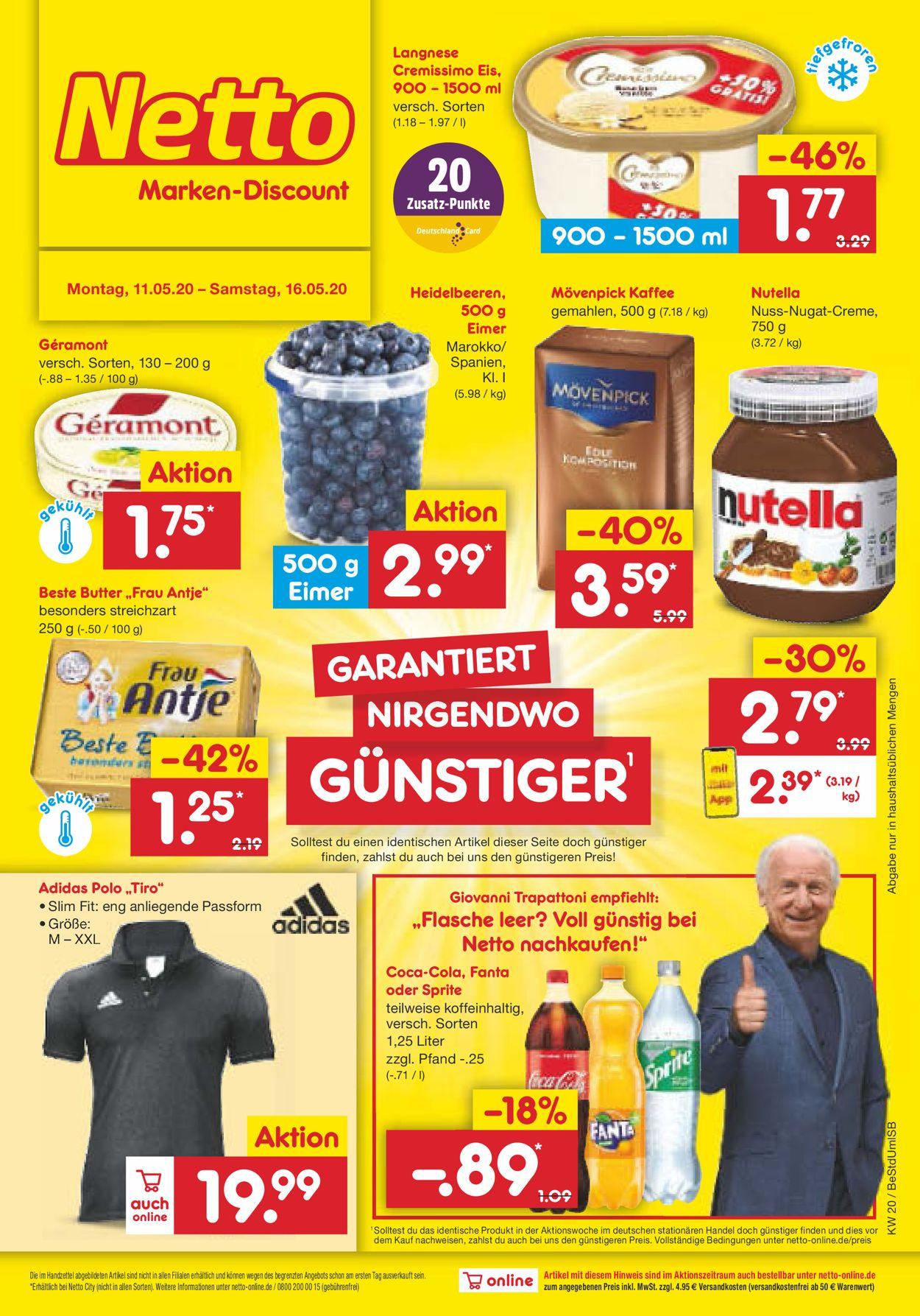 Netto Marken-Discount Prospekt - Aktuell vom 11.05-16.05.2020