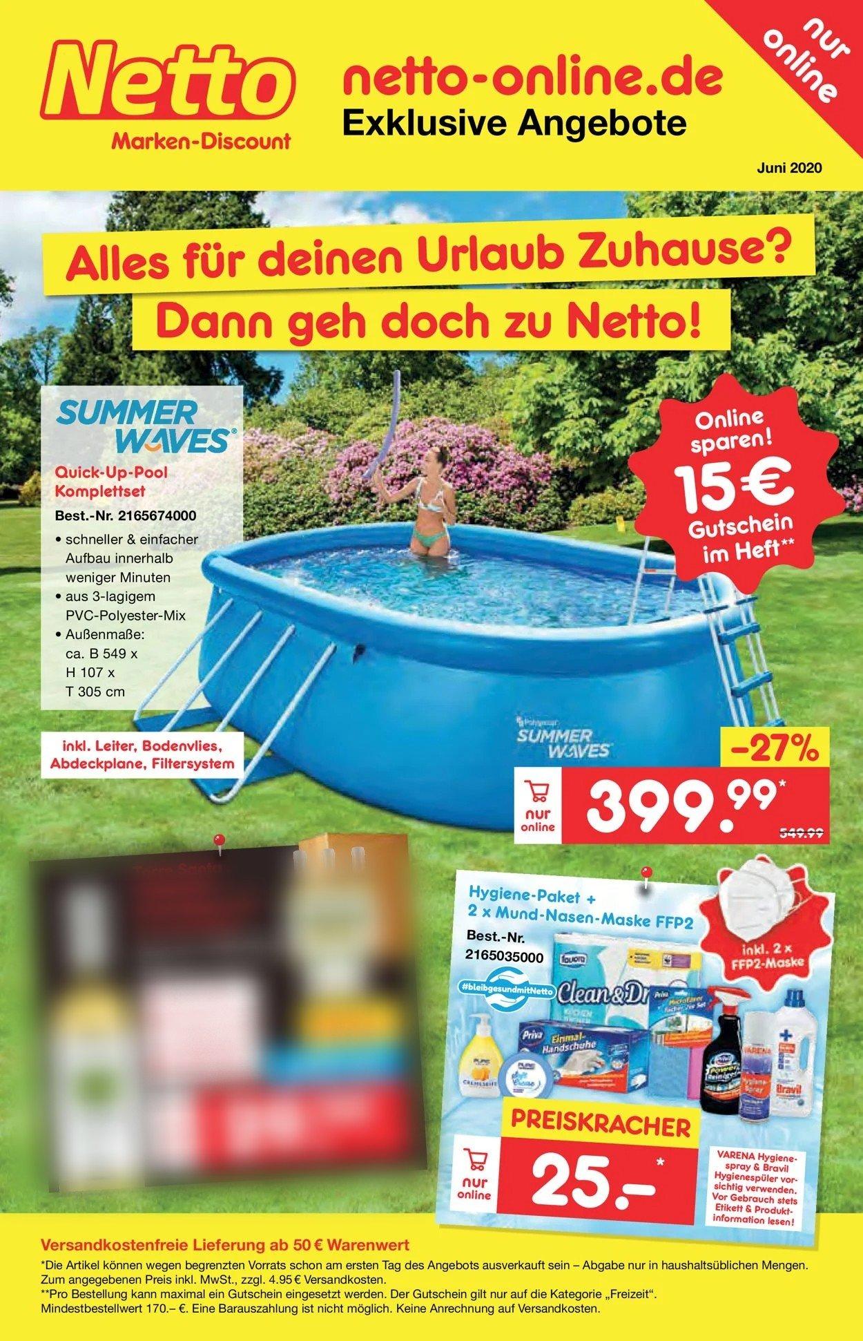 Netto Marken-Discount Prospekt - Aktuell vom 01.06-30.06.2020
