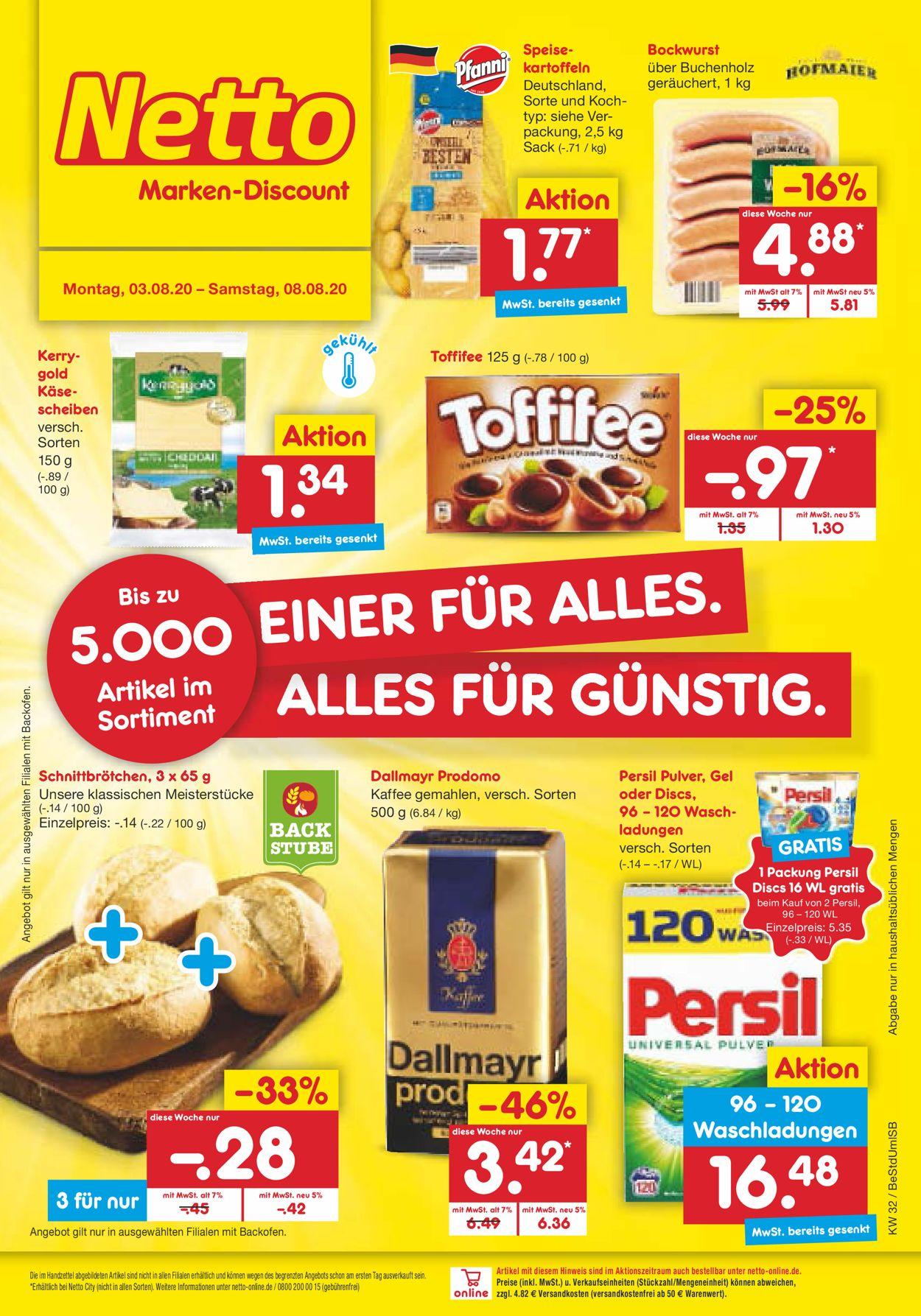 Netto Marken-Discount Prospekt - Aktuell vom 03.08-08.08.2020