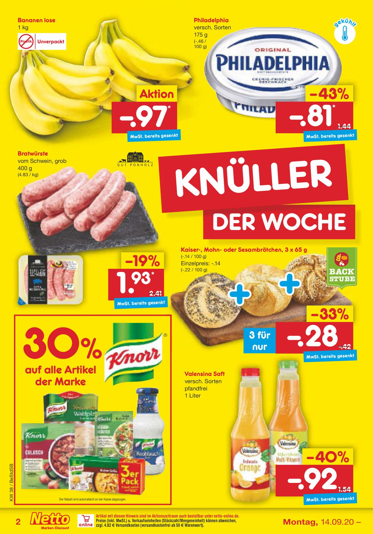 Netto Marken-Discount Prospekt - Aktuell vom 14.09-19.09.2020 (Seite 2)