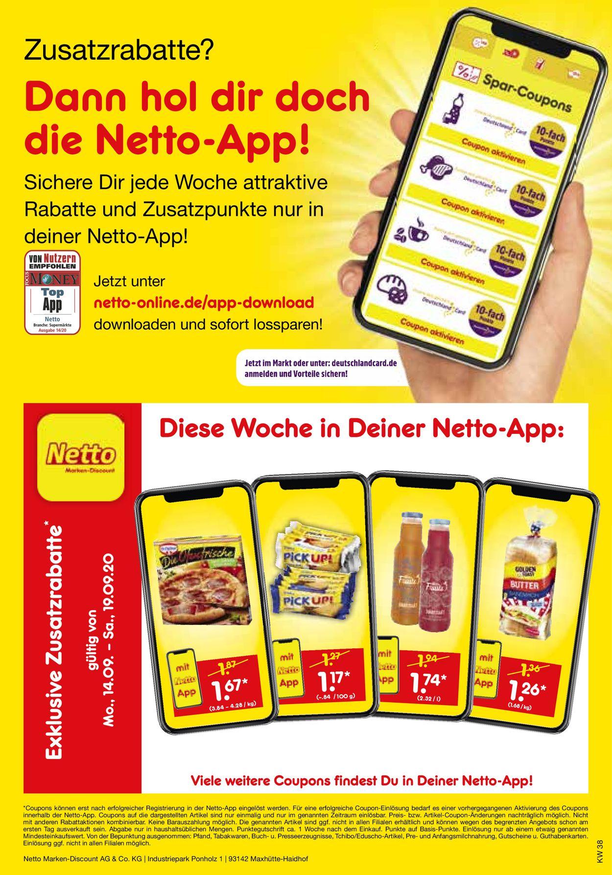Netto Marken-Discount Prospekt - Aktuell vom 14.09-19.09.2020 (Seite 41)