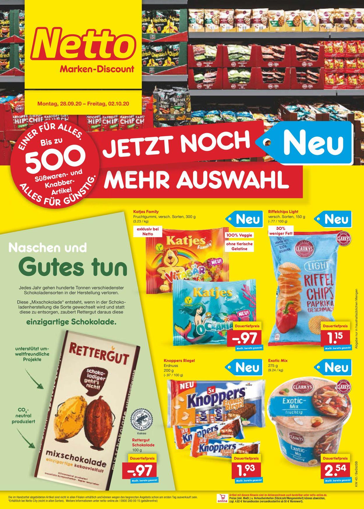 Netto Marken-Discount Prospekt - Aktuell vom 28.09-02.10.2020