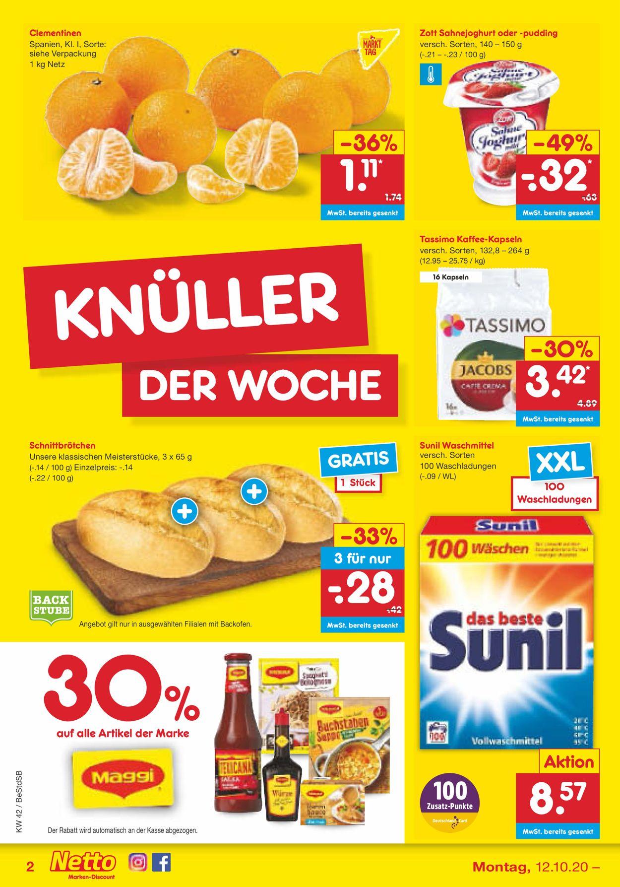Netto Marken-Discount Prospekt - Aktuell vom 12.10-17.10.2020 (Seite 2)